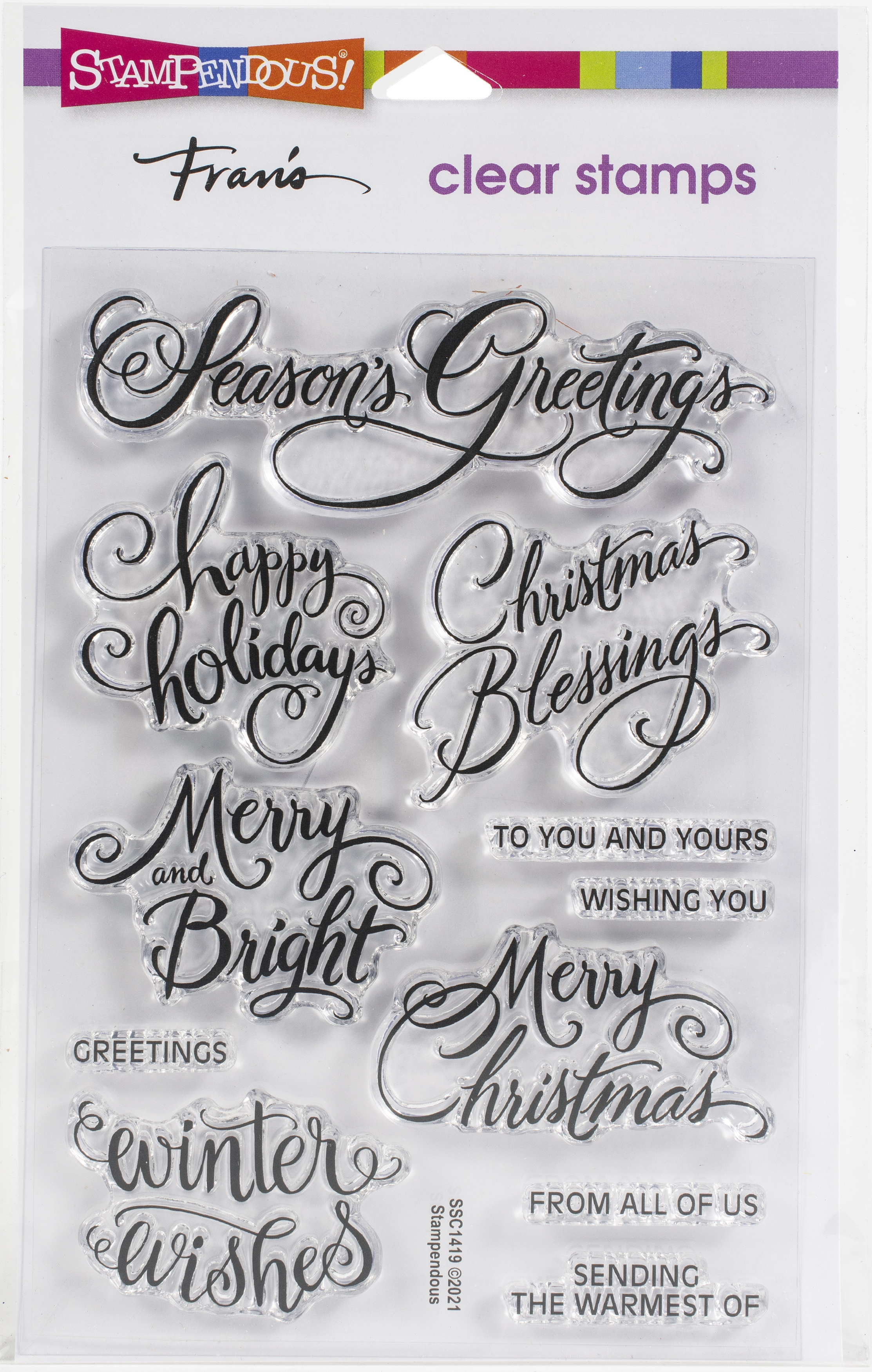 Stampendous Perfectly Clear Stamps-Brushed Greetings