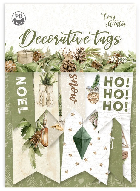 P13 Cosy Winter Double-Sided Cardstock Tags 10/Pkg-#02