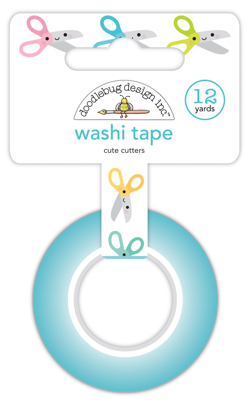 Doodlebug Washi Tape 15mmX12yd-Cute Cutters