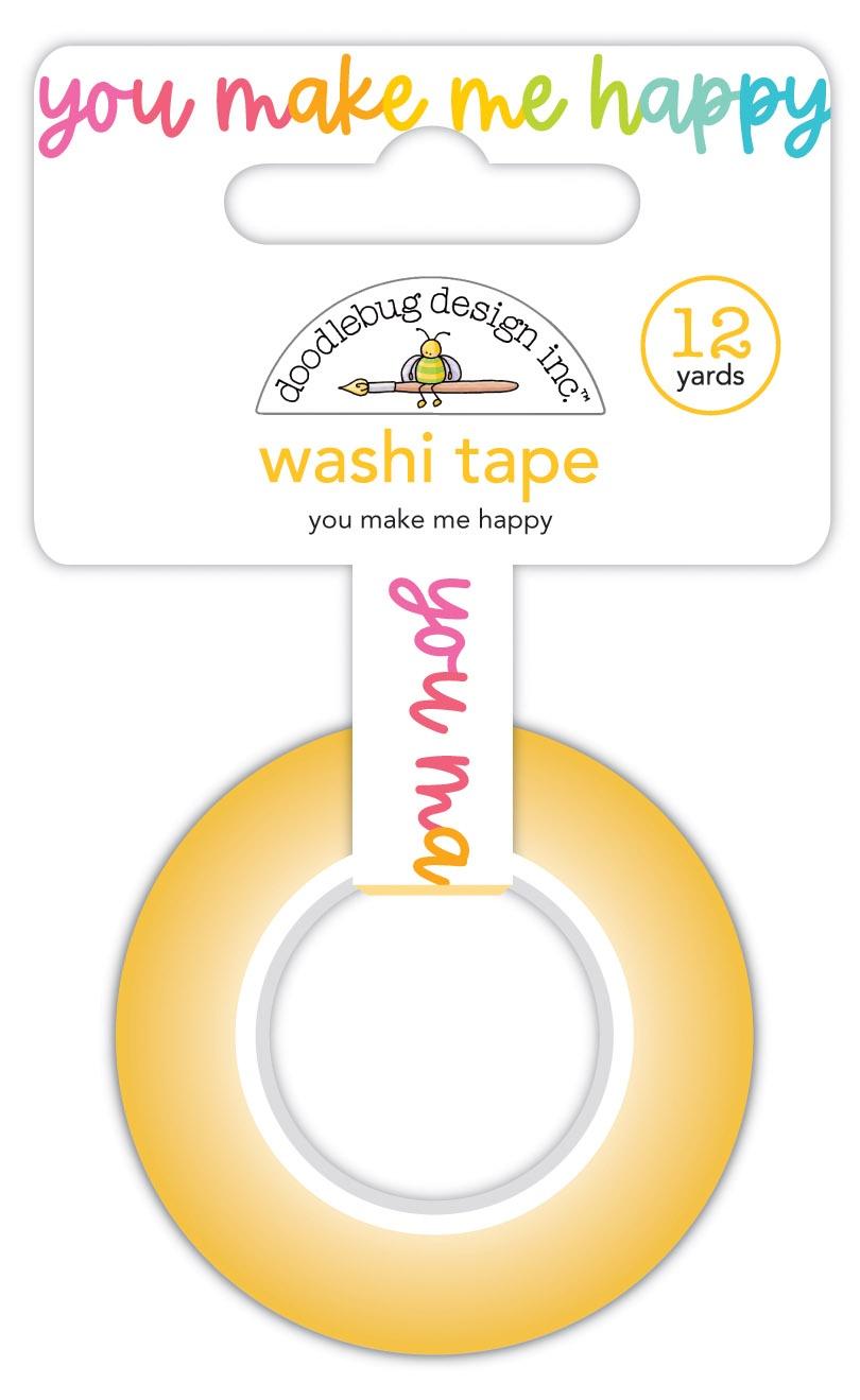 Doodlebug Washi Tape 15mmX12yd-You Make Me Happy