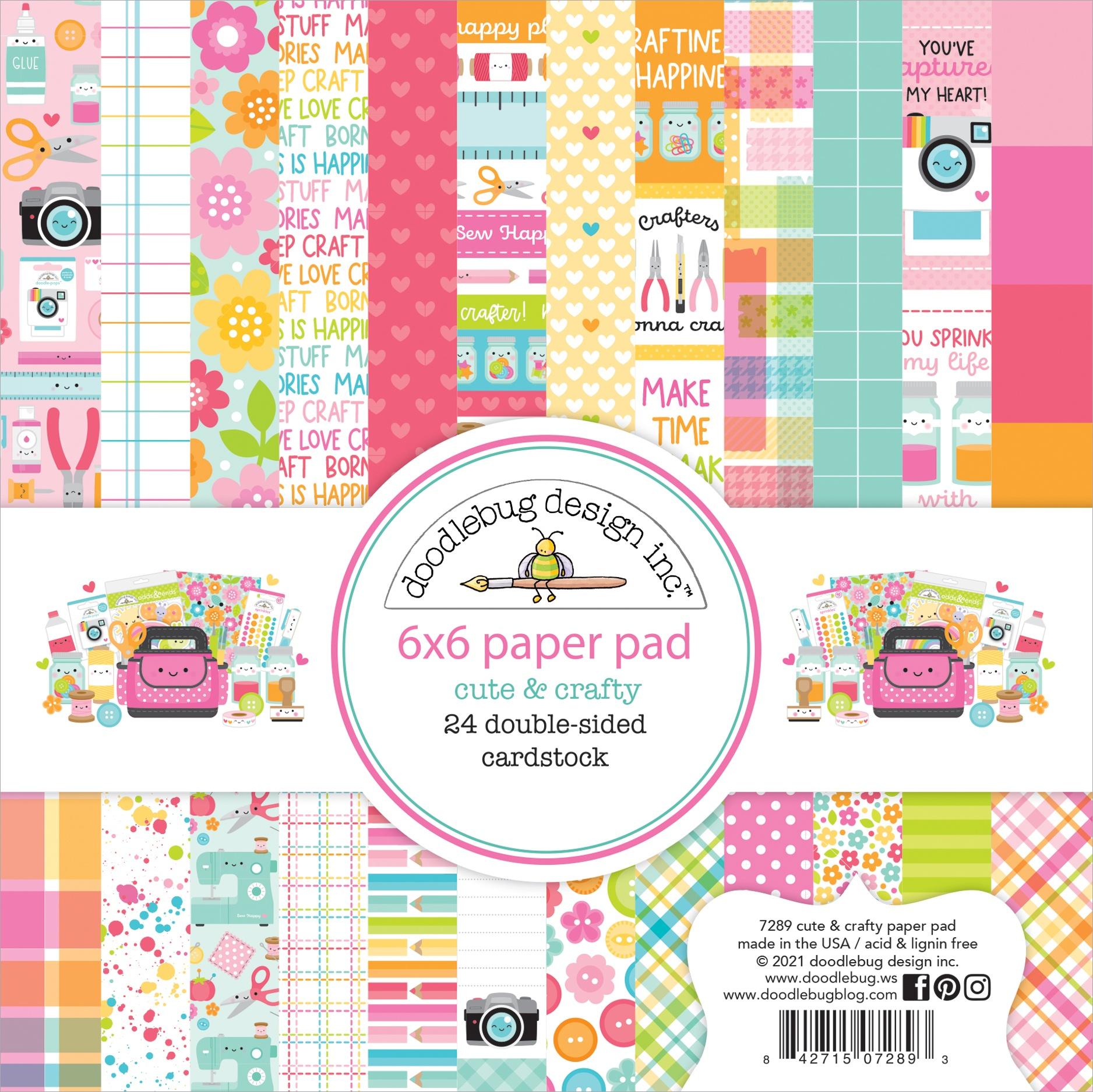 Doodlebug Cute & Crafty - 6x6 Paper Pad