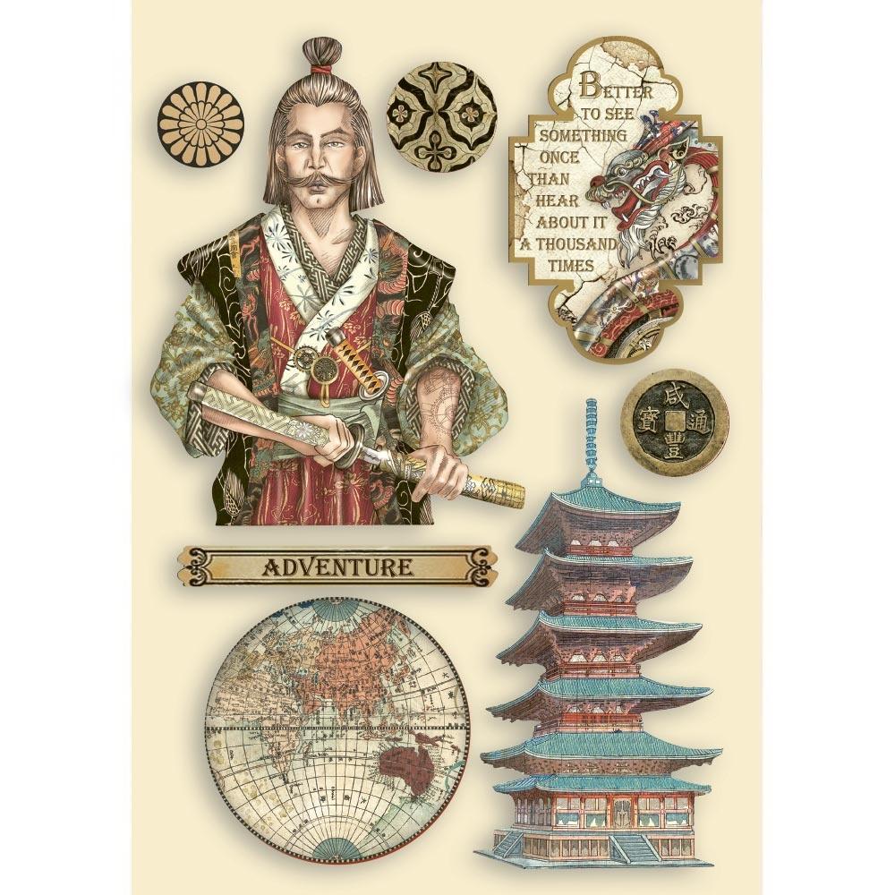 Sir Vagabond In Japan Wooden Shapes A5 Samurai,