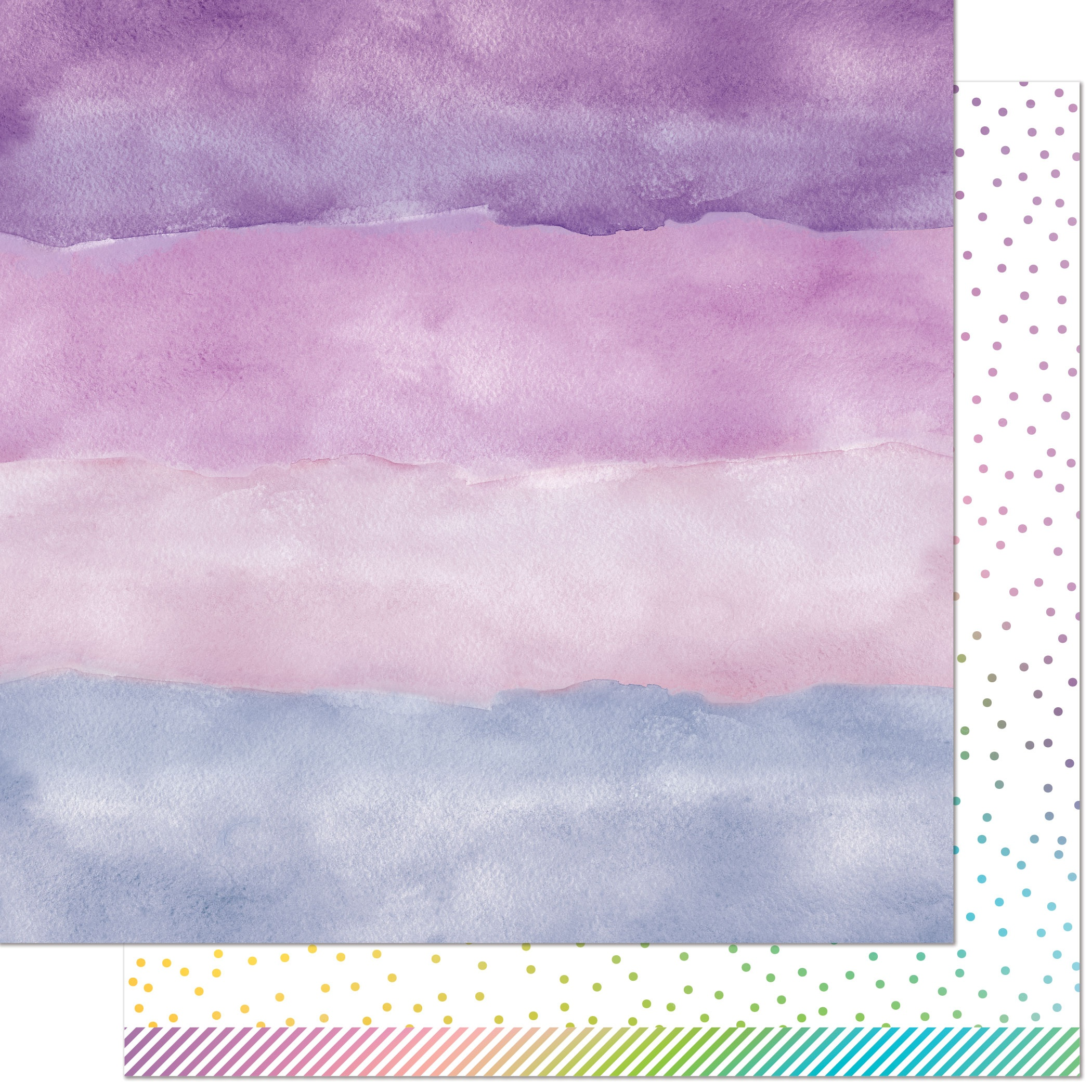 Watercolor Wishes Rainbow Double-Sided Cardstock 12X12-Amethyst