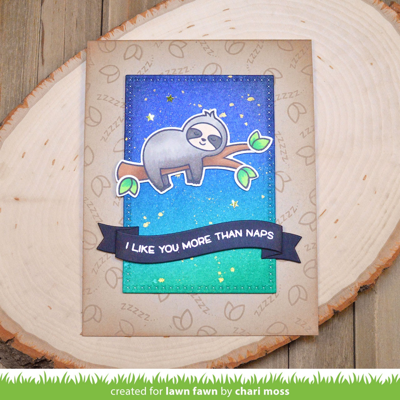 Lawn Fawn Clear Stamps 3X2-I Like Naps