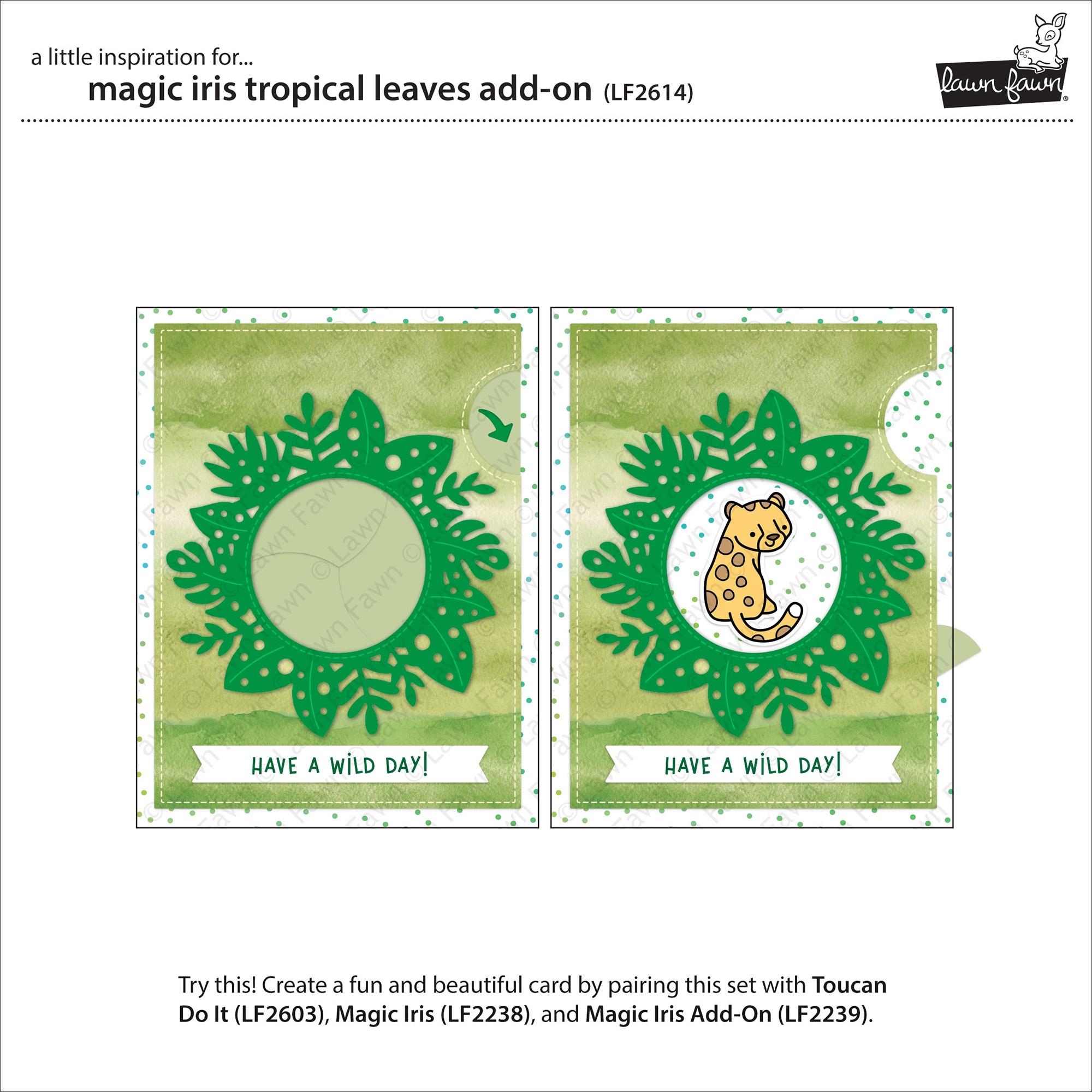 Lawn Cuts Custom Craft Die-Magic Iris Tropical Leaves Add-On