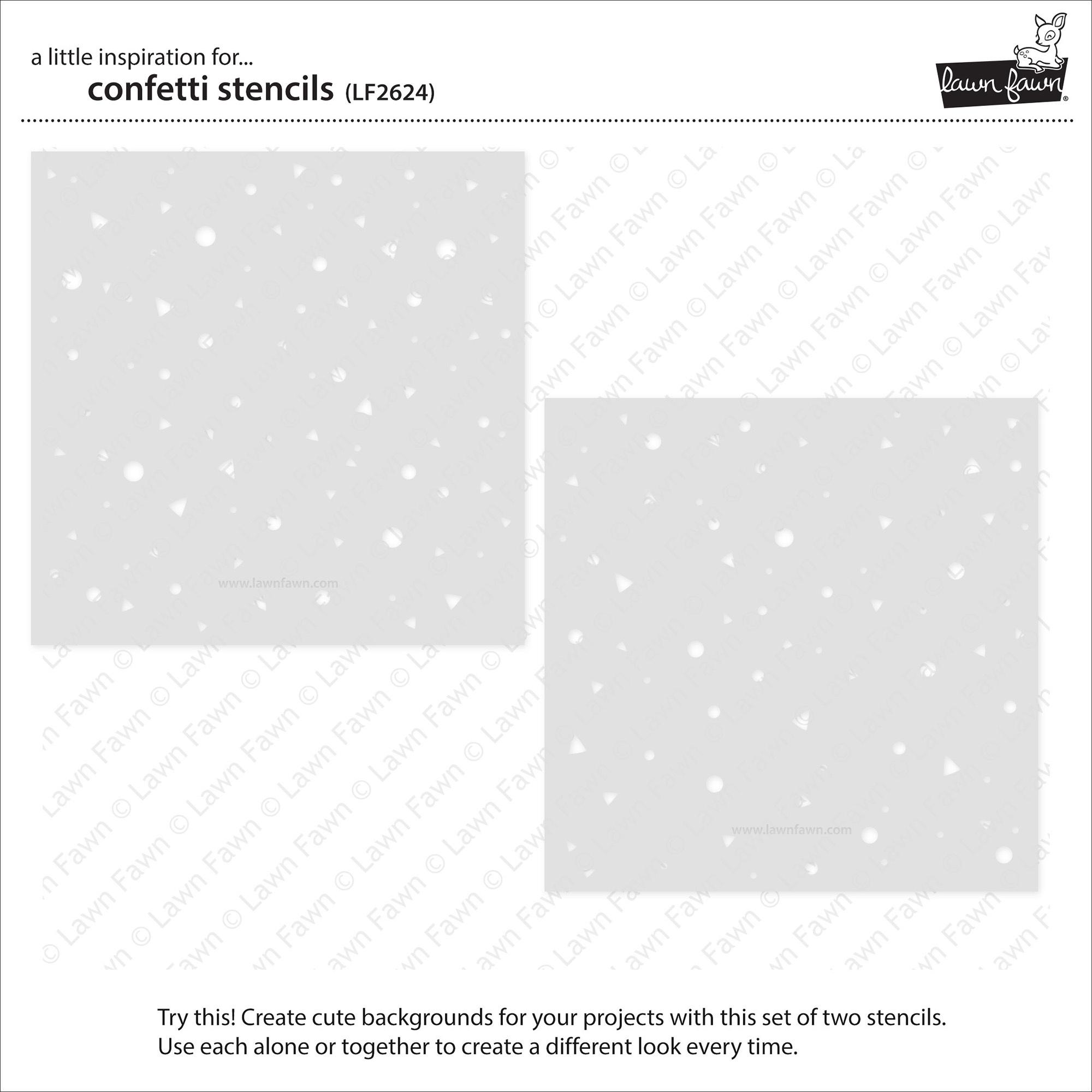 Lawn Clippings Stencils-Confetti