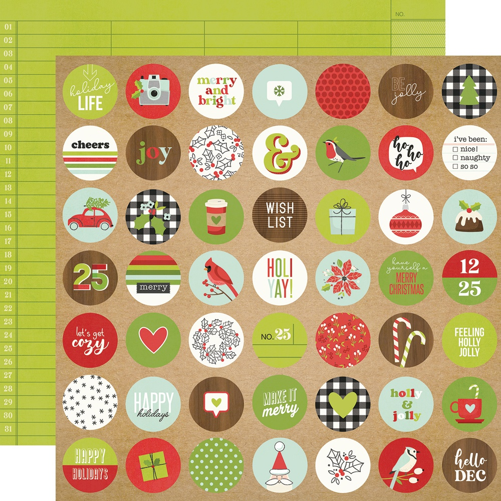Make It Merry Double-Sided Cardstock 12X12-Merry Merry Merry