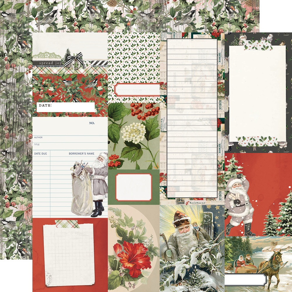 COLLECTION: Simple Vintage Rustic Christmas Dbl-Sided Cardstock 12X12