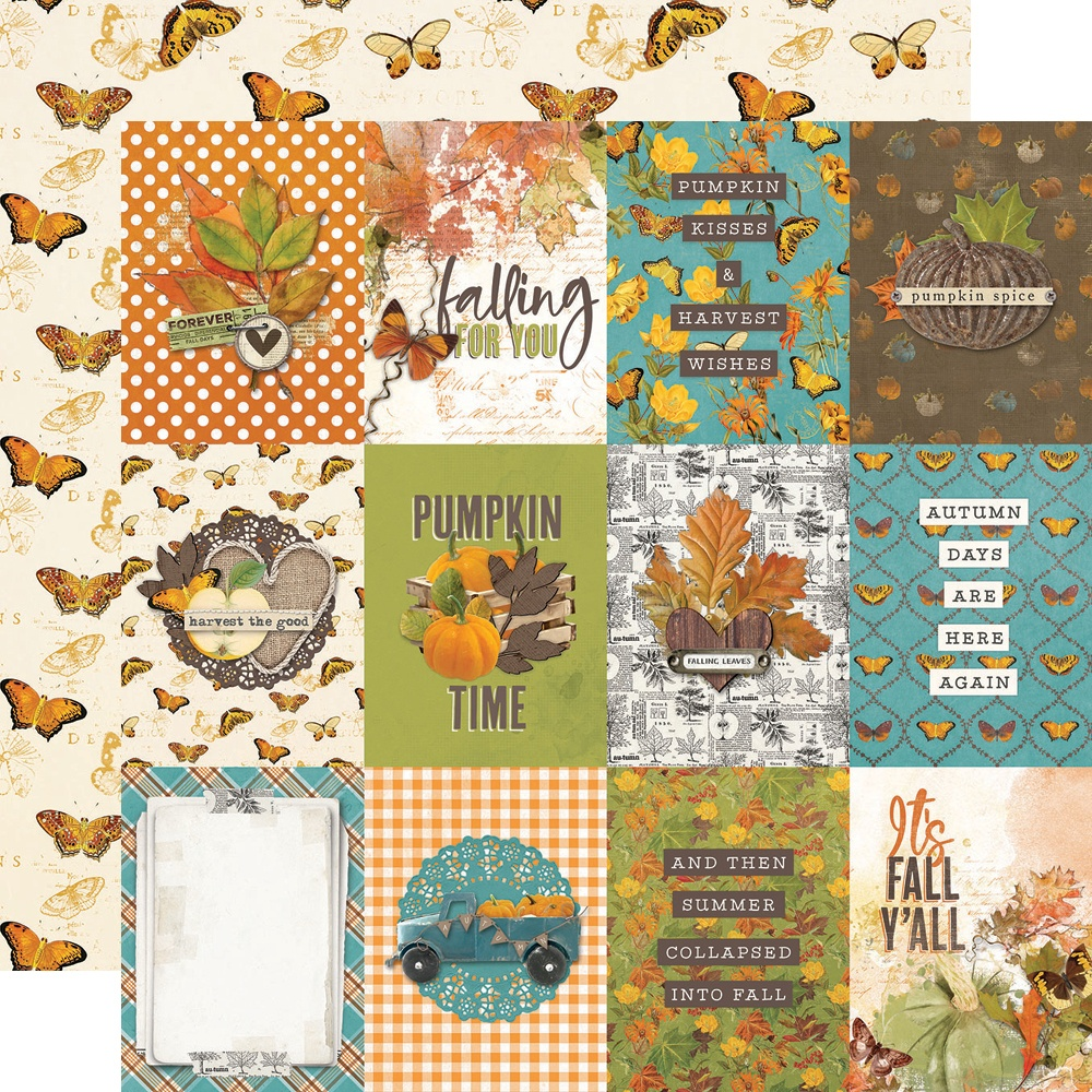 COLLECTION: Simple Vintage Country Harvest Dbl-Sided Cardstock 12X12