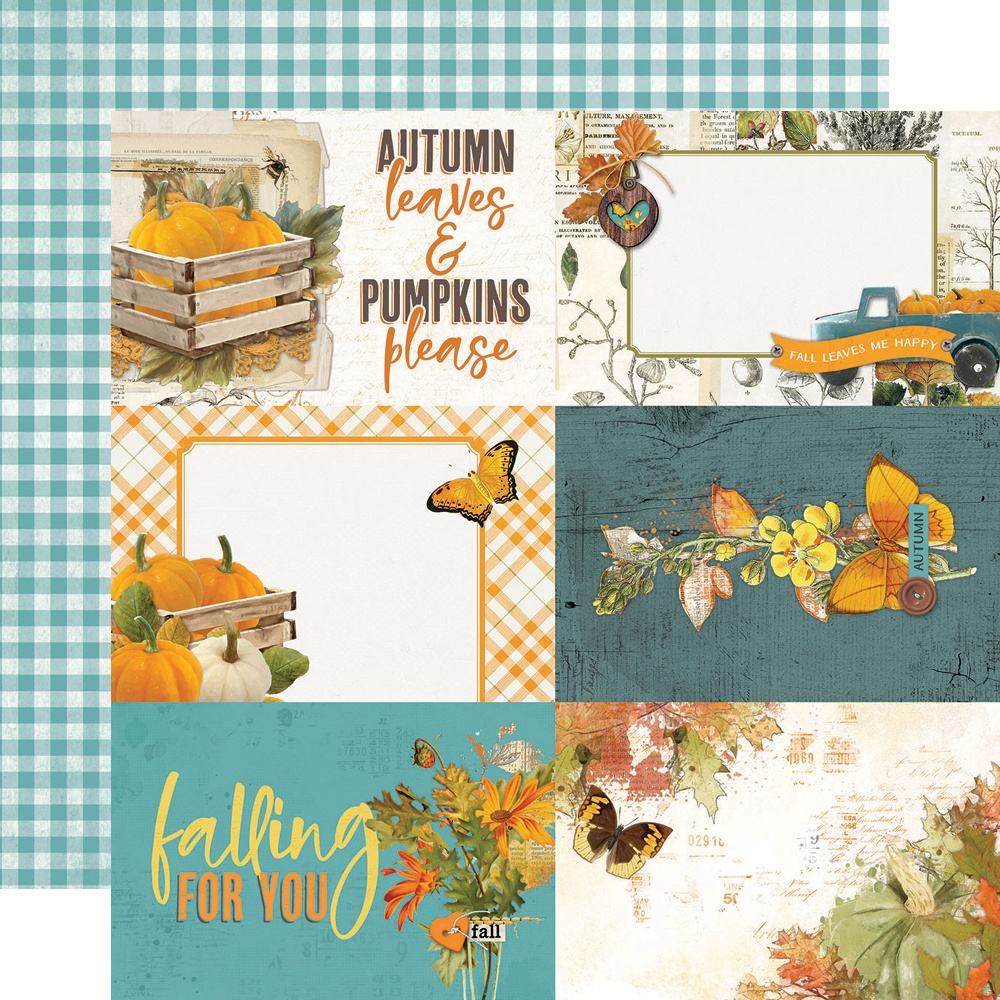 Simple Vintage Country Harvest - 4X6 ELEMENTS - 12x12 Double-Sided Paper