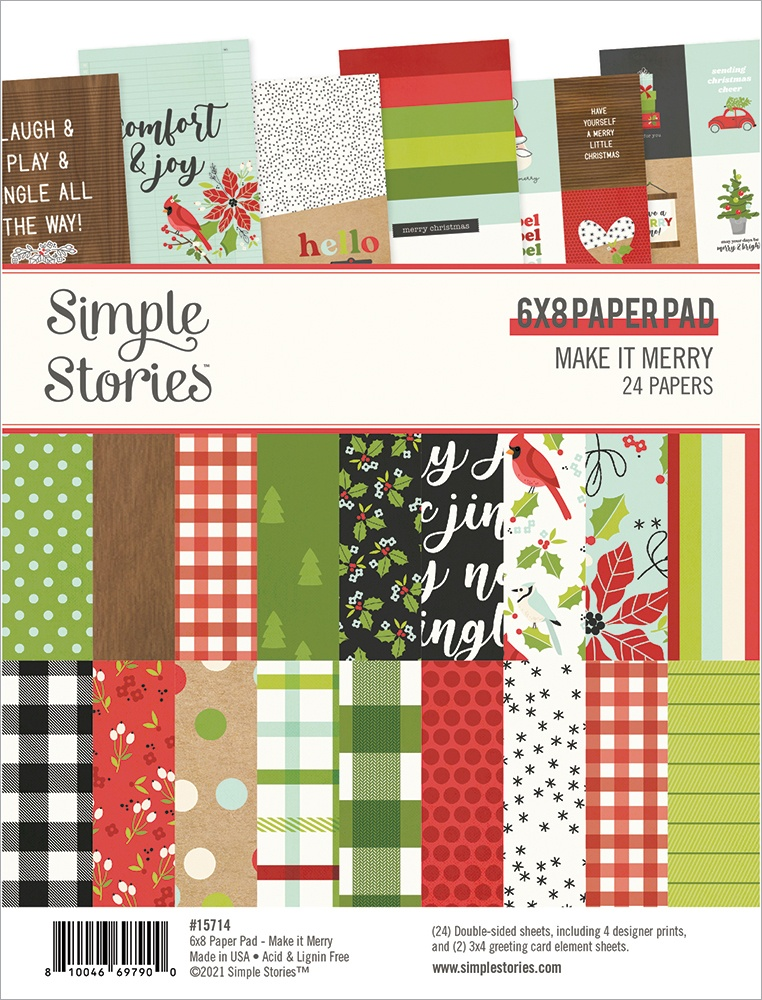 Simple Stories Double-Sided Paper Pad 6X8 24/Pkg-Make It Merry
