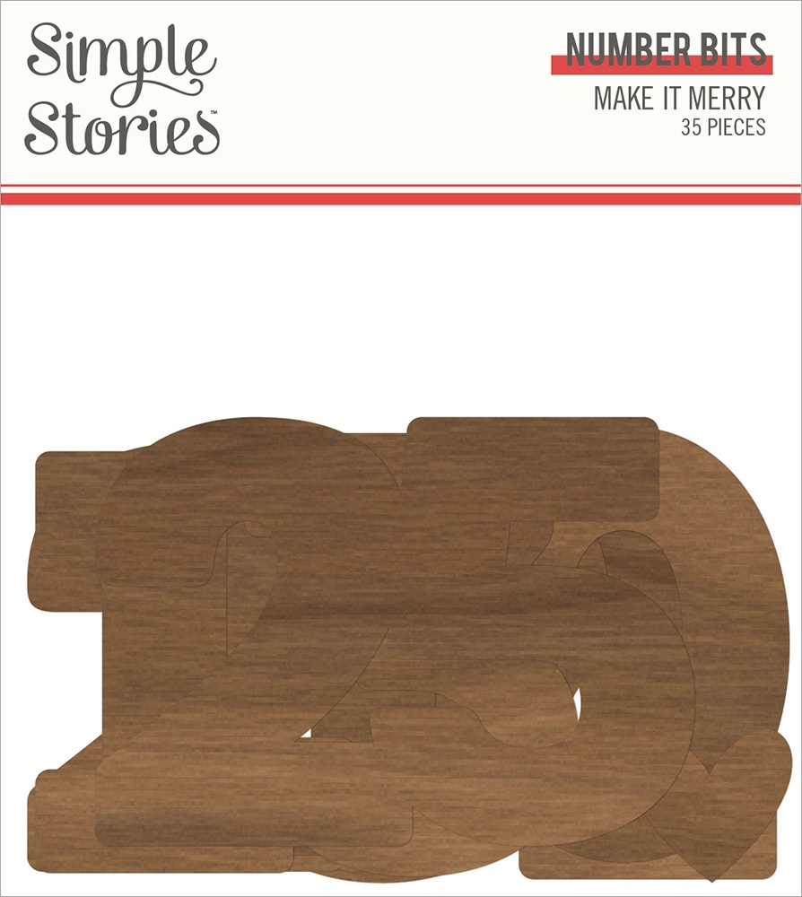 Make It Merry Bits & Pieces Die-Cuts 35/Pkg-Number
