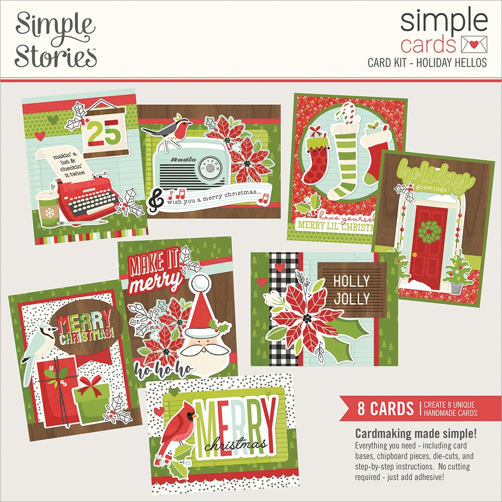 Simple Stories Simple Cards Card Kit-Holiday Hellos, Make It Merry