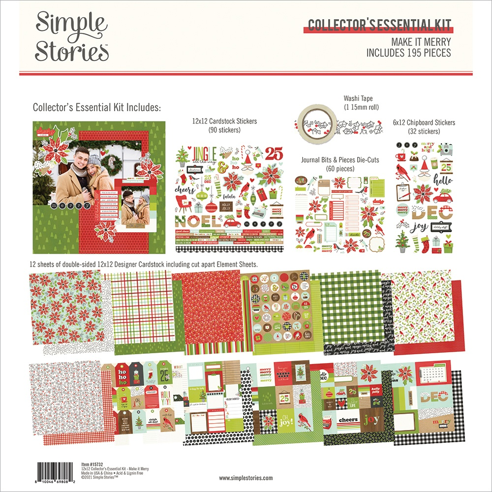 Simple Stories Collector's Essential Kit 12X12-Make It Merry