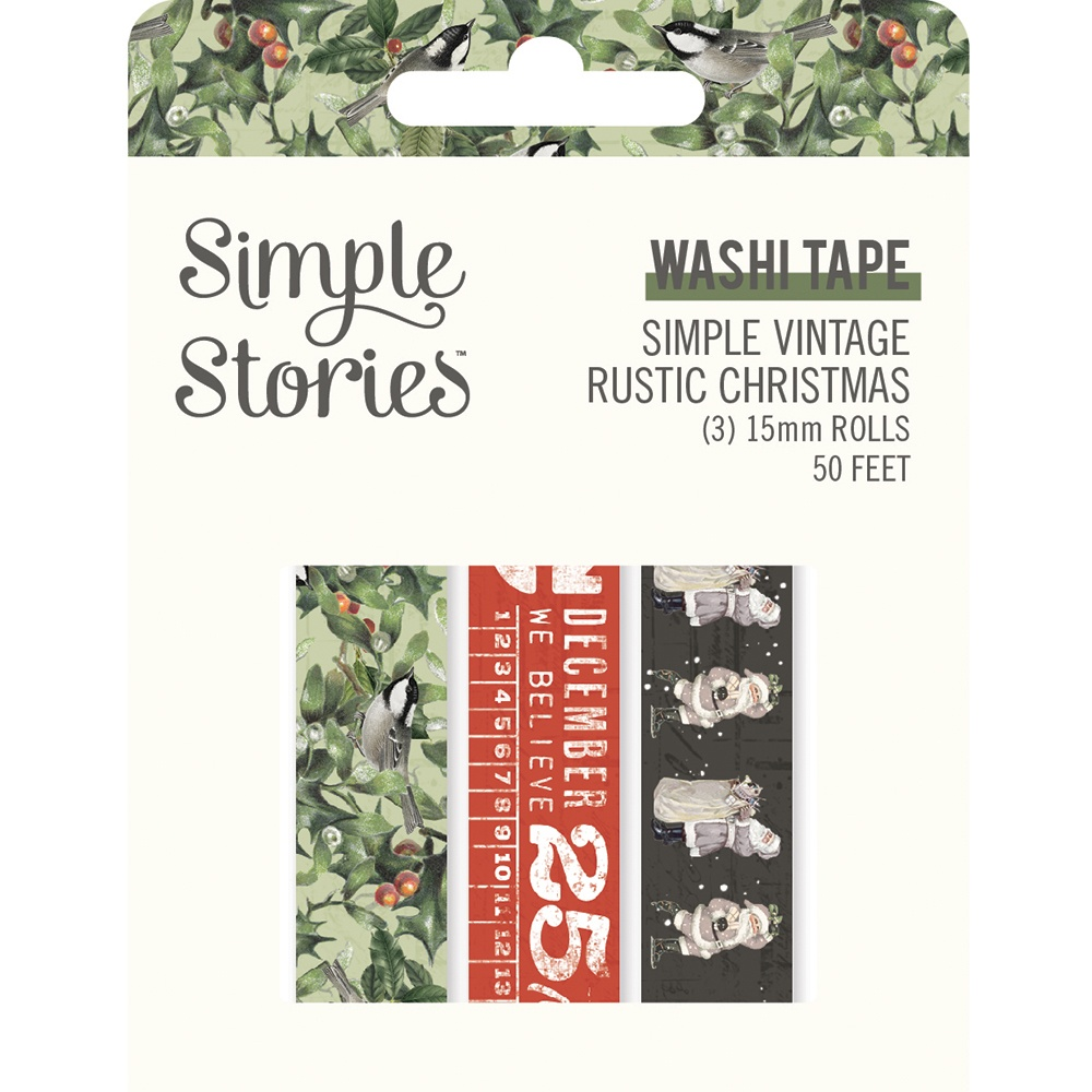 Simple Stories Simple Vintage Rustic Christmas Washi 3/Pkg-