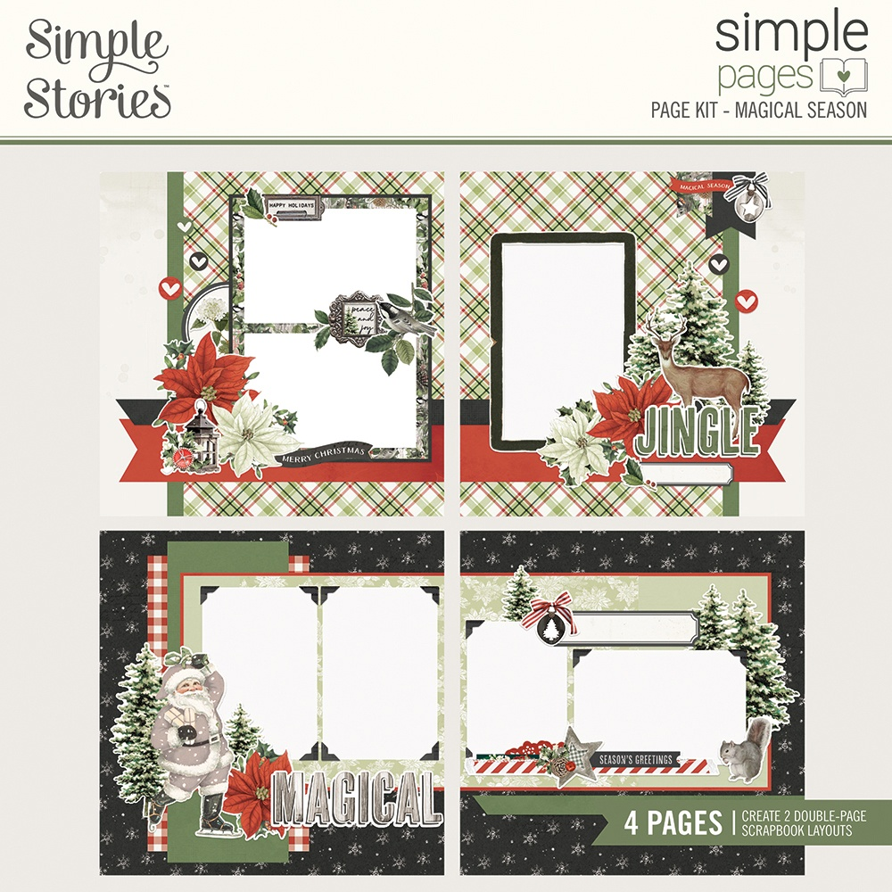 Simple Stories Simple Pages Page Kit-Magical Season, Rustic Christmas