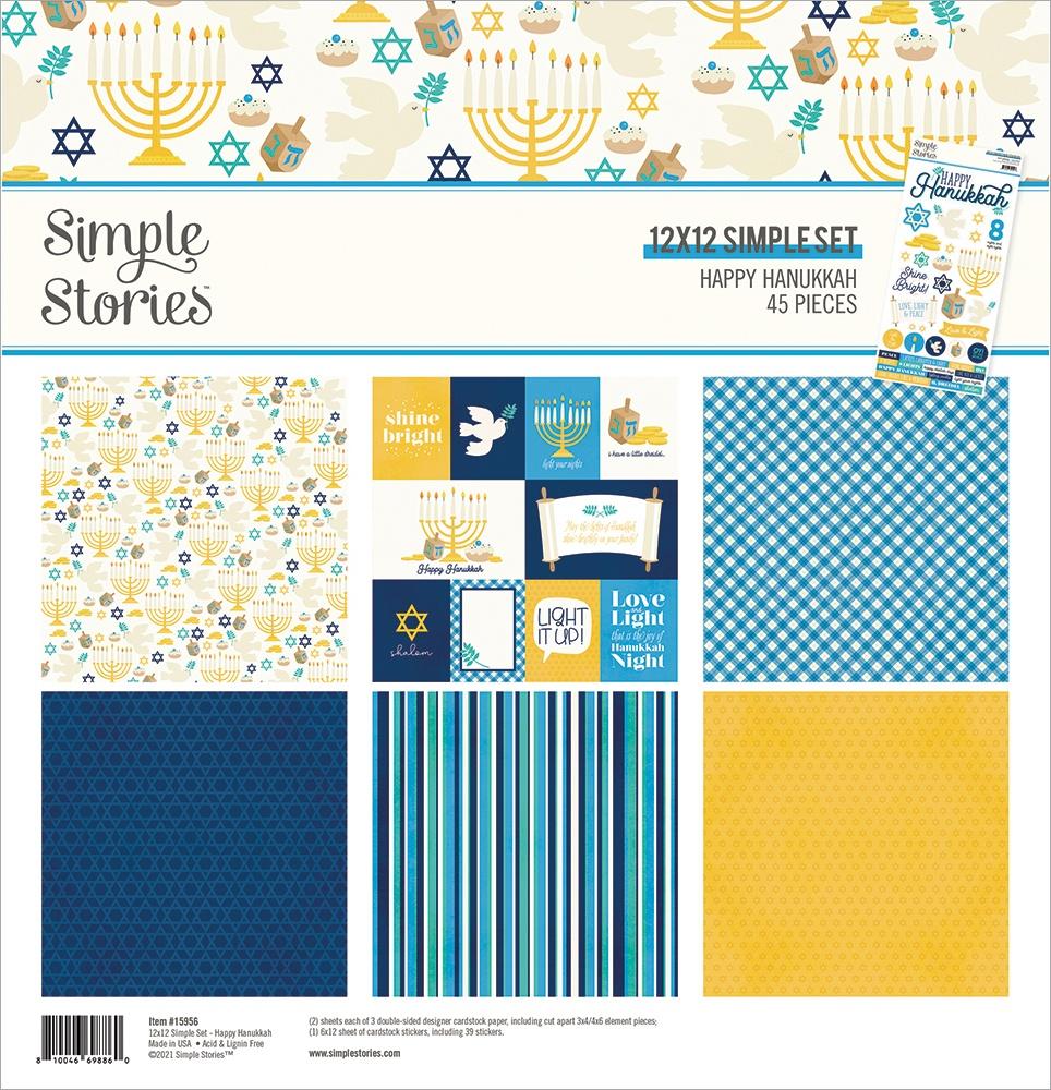 Simple Stories Collection Kit 12X12-Happy Hanukkah