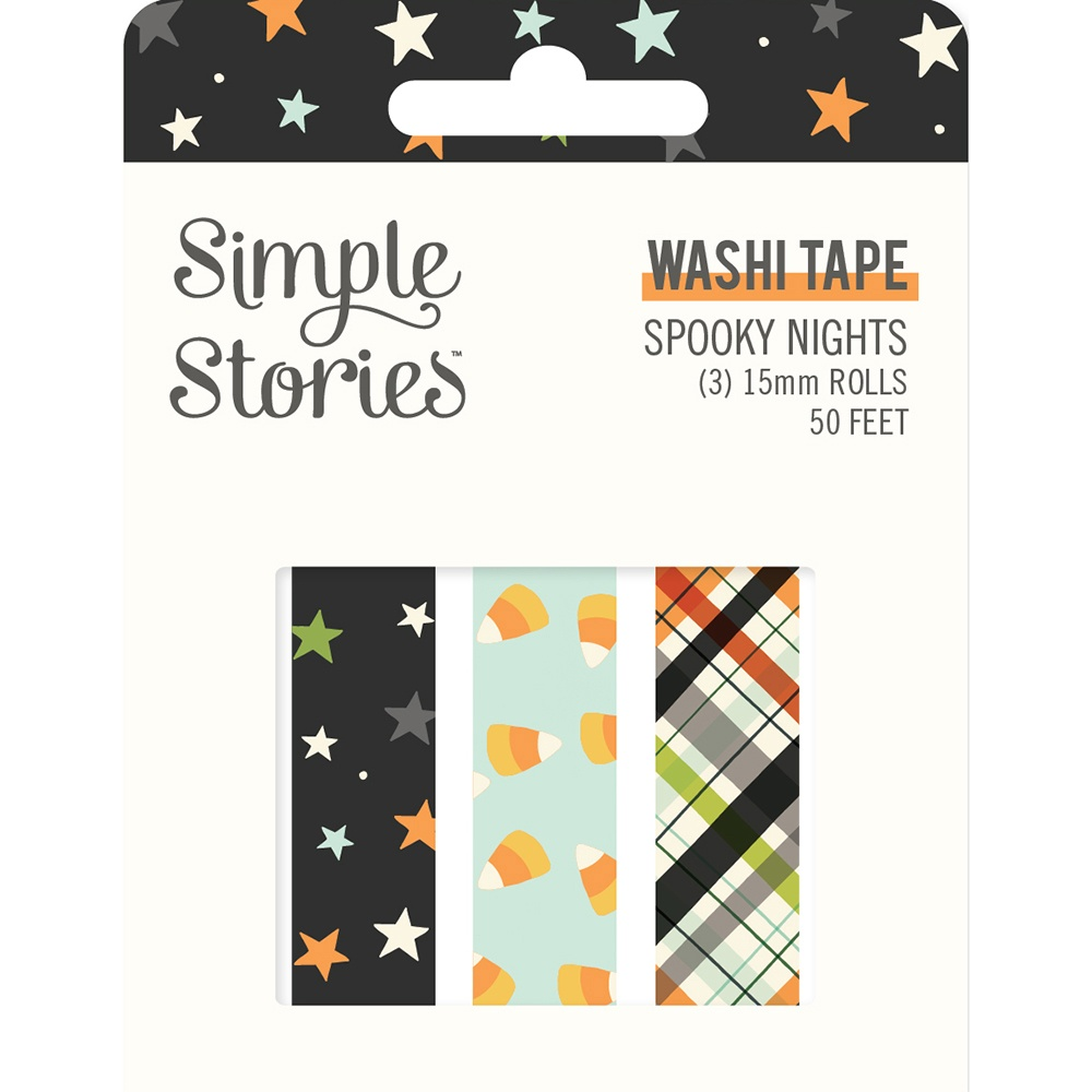 Simple Stories Spooky Nights Washi Tape 3/Pkg-