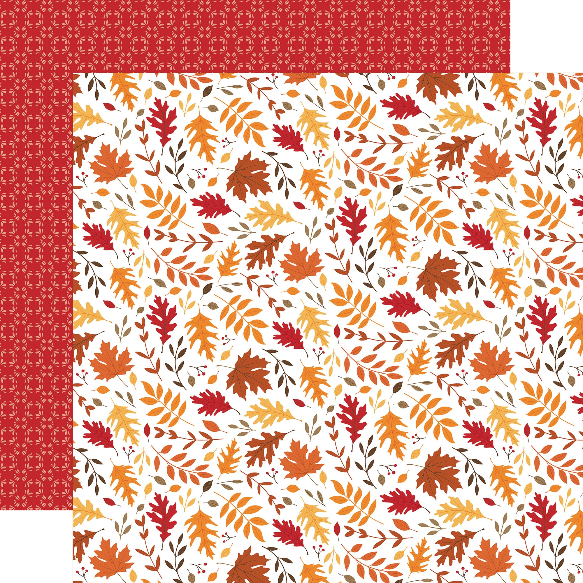 Echo Park - Fall - LEAF PILE - 12x12 Double-Sided Paper