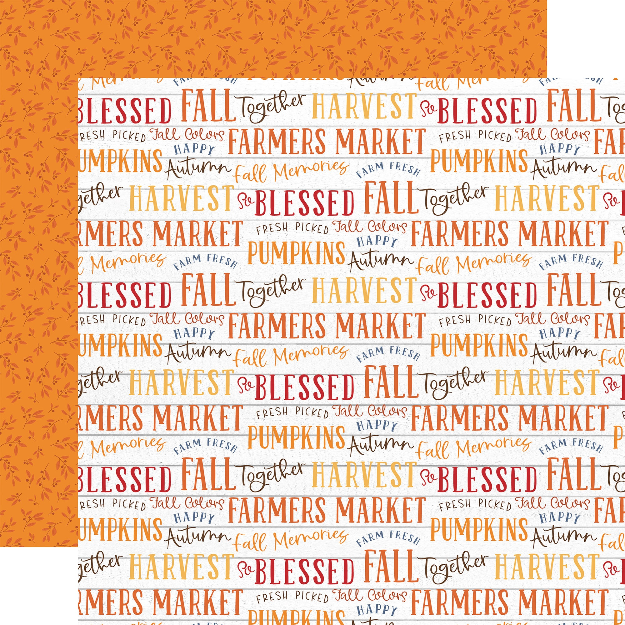 Fall Double-Sided Cardstock 12X12-Fall Phrases