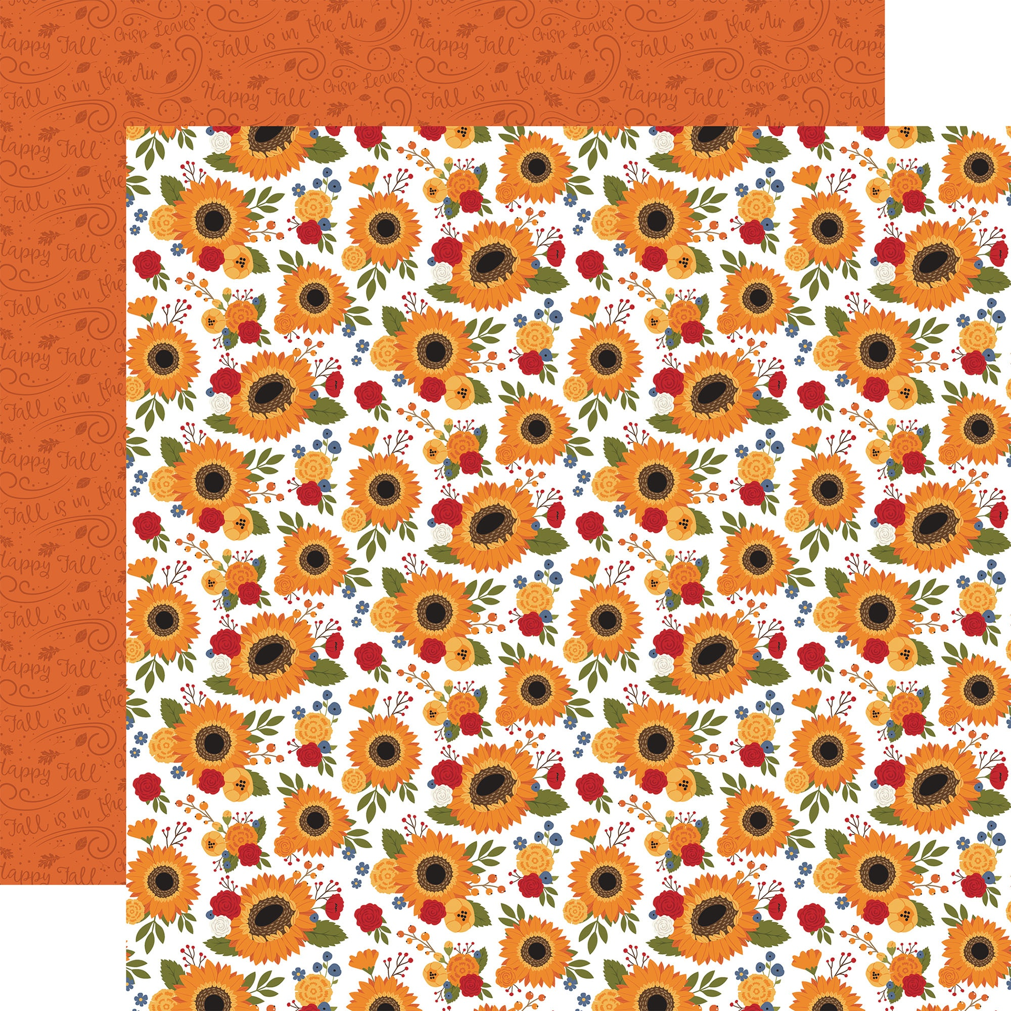 Echo Park - Fall - FAMILY FARM FLORAL - 12x12 Double-Sided Paper