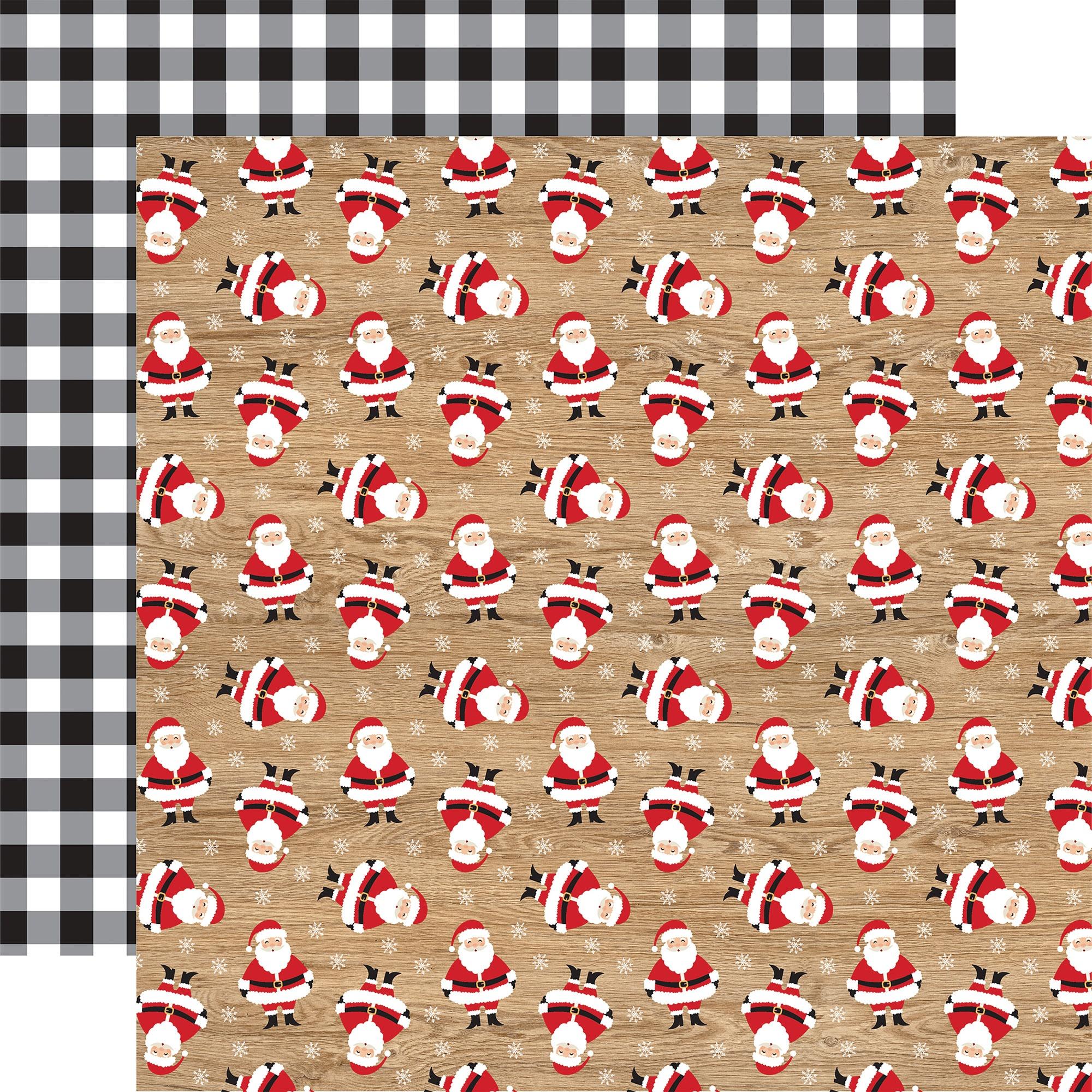 Echo Park - Jingle All The Way - KRIS KRINGLE - 12x12 Double-Sided Paper