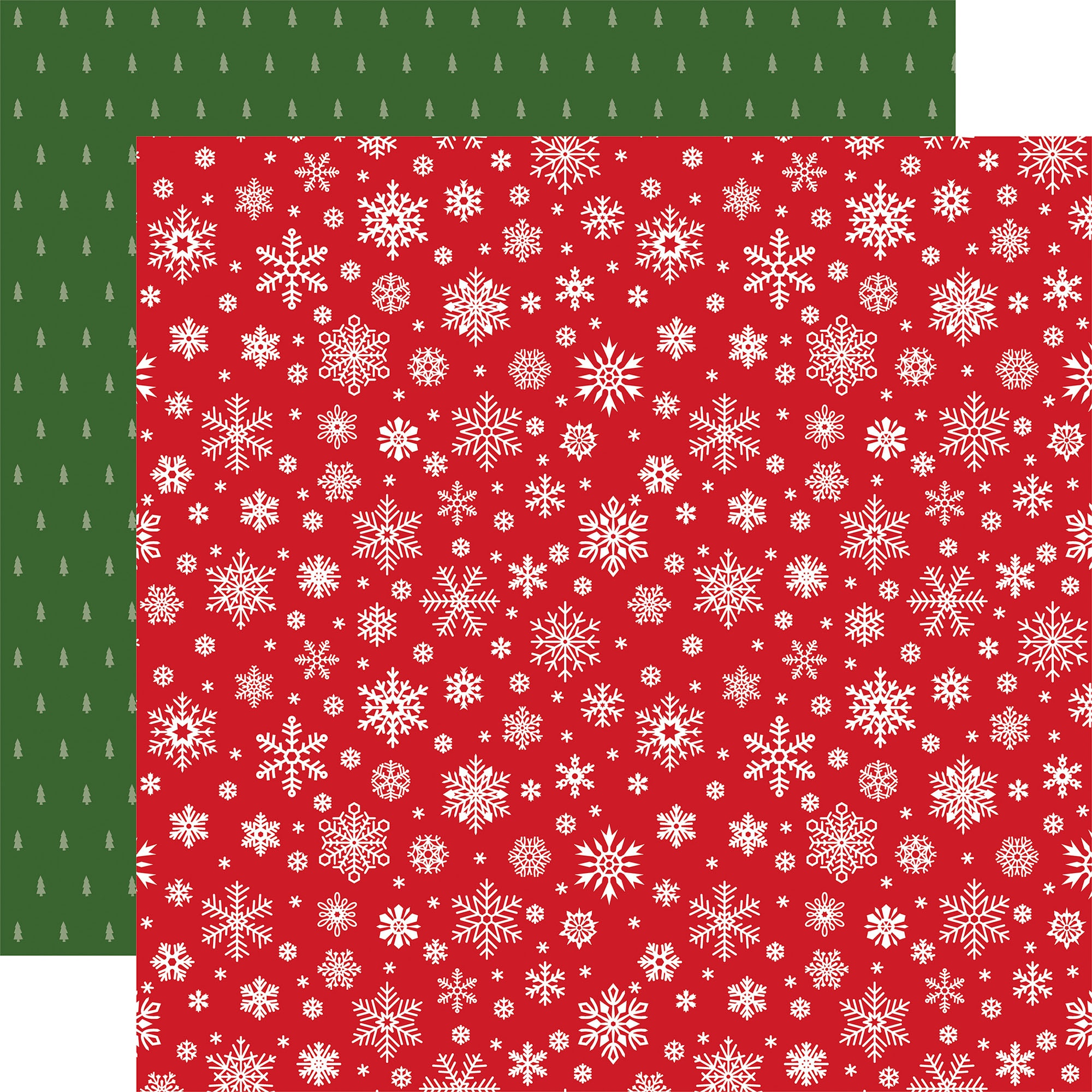 Echo Park - Jingle All The Way - SILENT SNOWFALL - 12x12 Double-Sided Paper