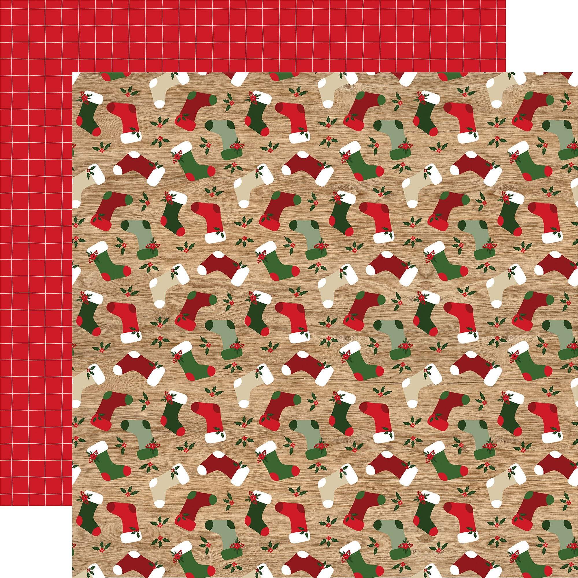 Echo Park - Jingle All The Way - BY THE CHIMNEY - 12x12 Double-Sided Paper