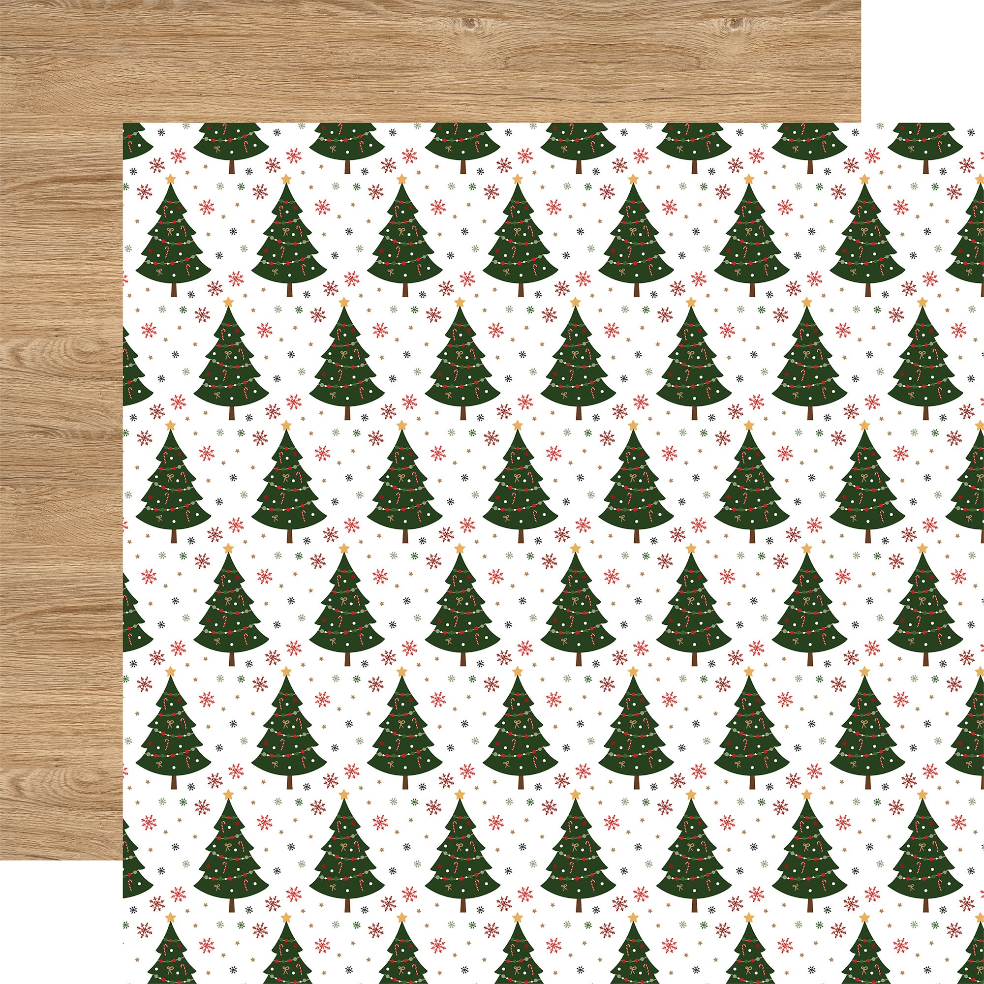Echo Park - Jingle All The Way - O CHRISTMAS TREE - 12x12 Double-Sided Paper