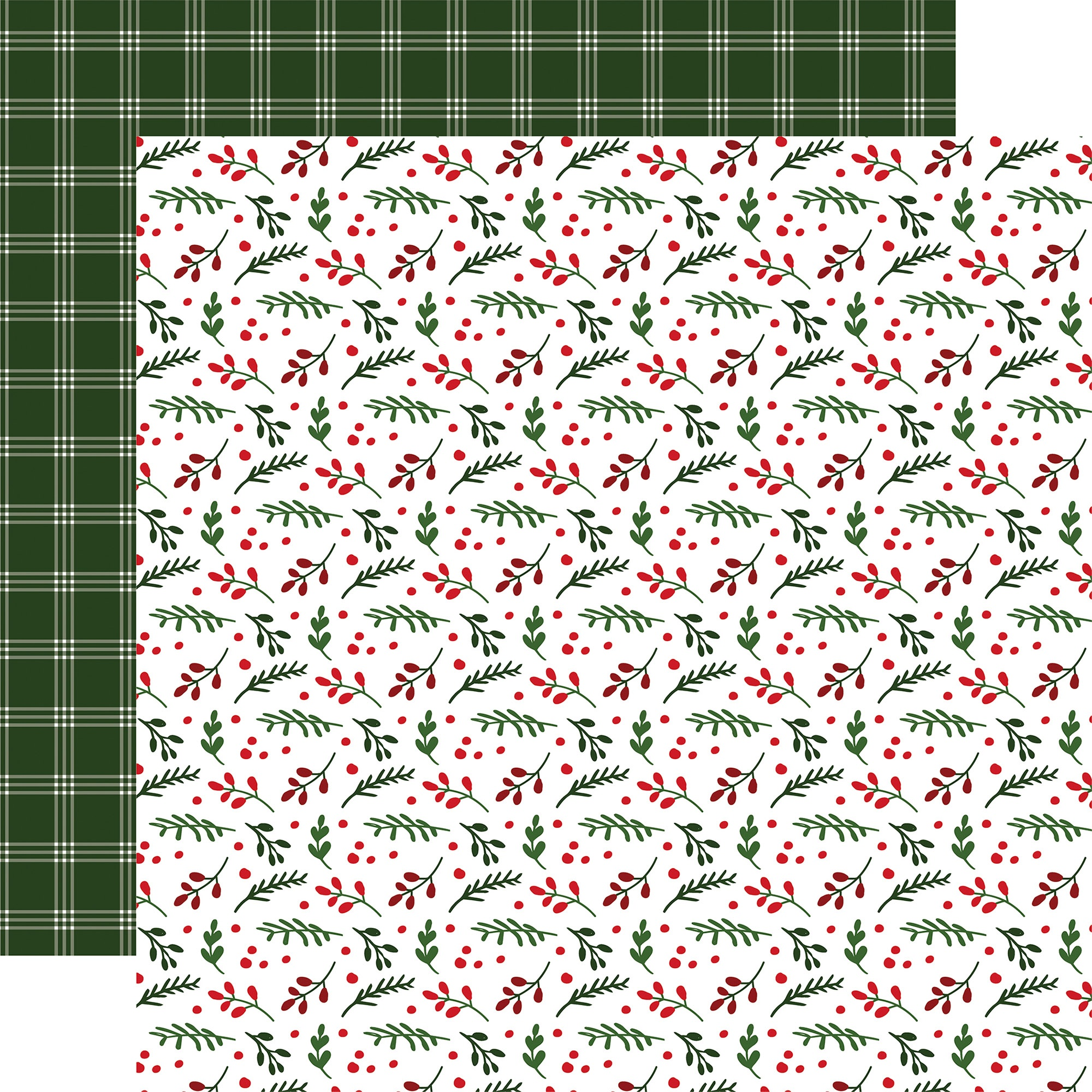 Echo Park - Jingle All The Way - HOLLY BERRY - 12x12 Double-Sided Paper