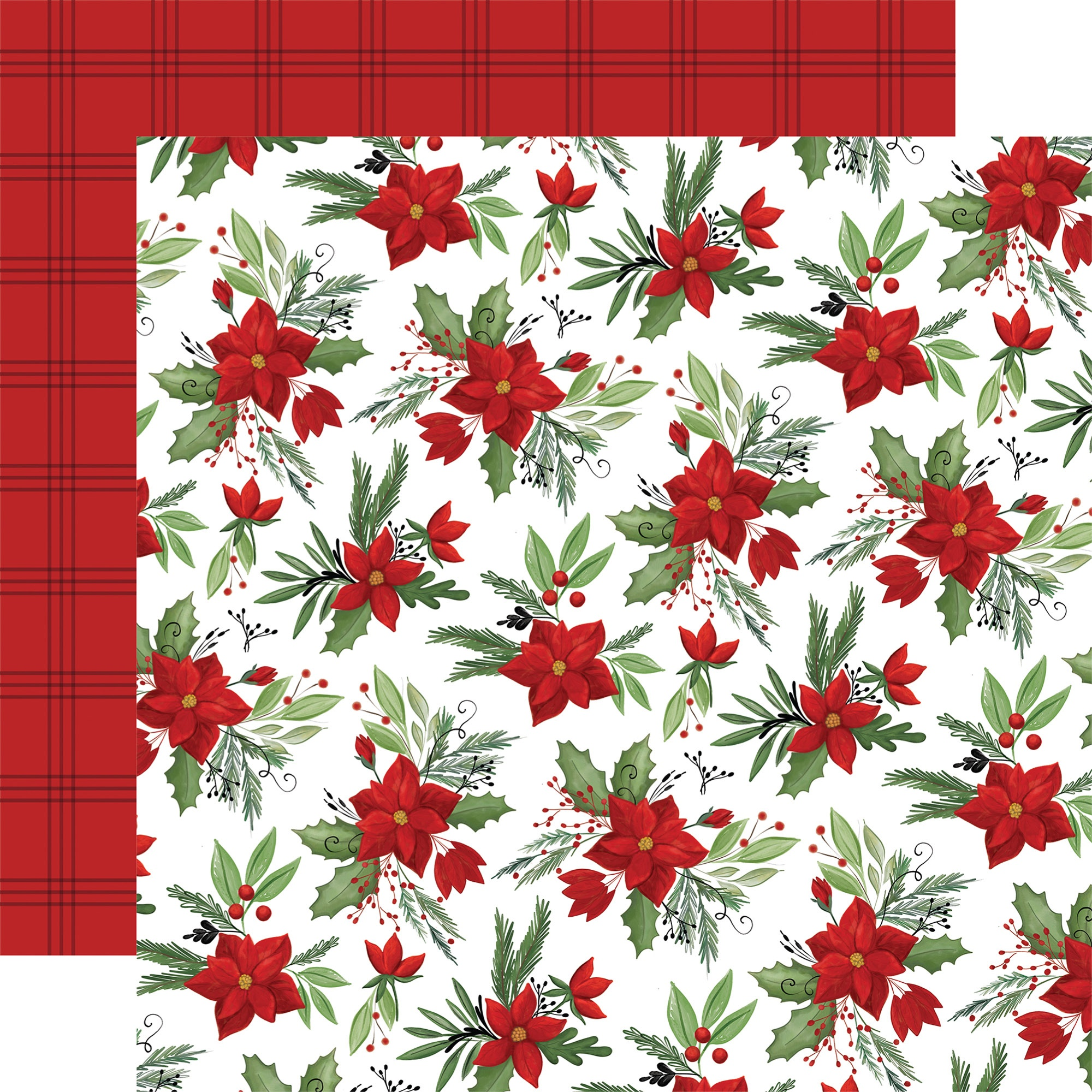 Home For Christmas Double-Sided Cardstock 12X12-Fa La La Floral