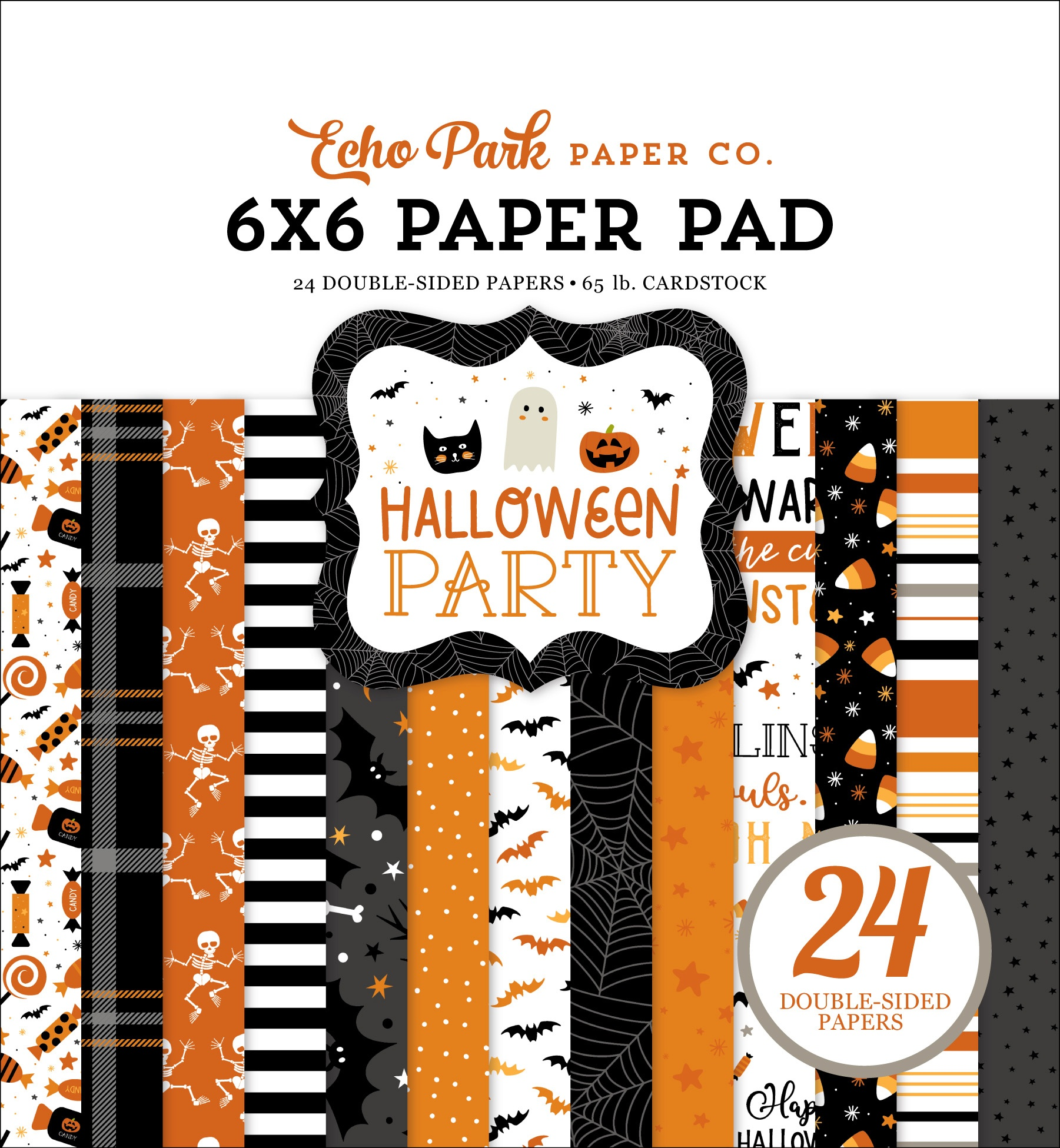 Echo Park Double-Sided Paper Pad 6X6 24/Pkg-Halloween Party