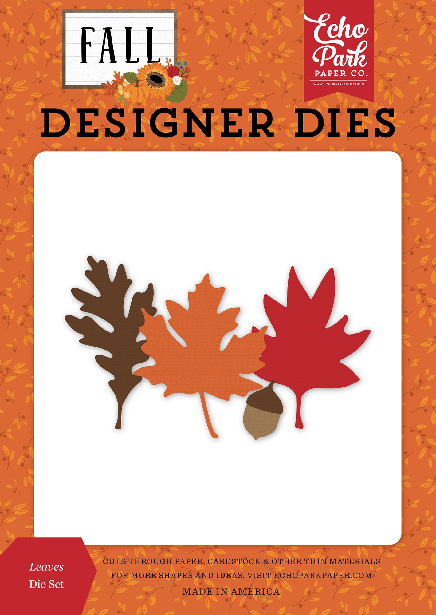Echo Park Fall Collection Dies - Leaves - Matrice feuilles automne