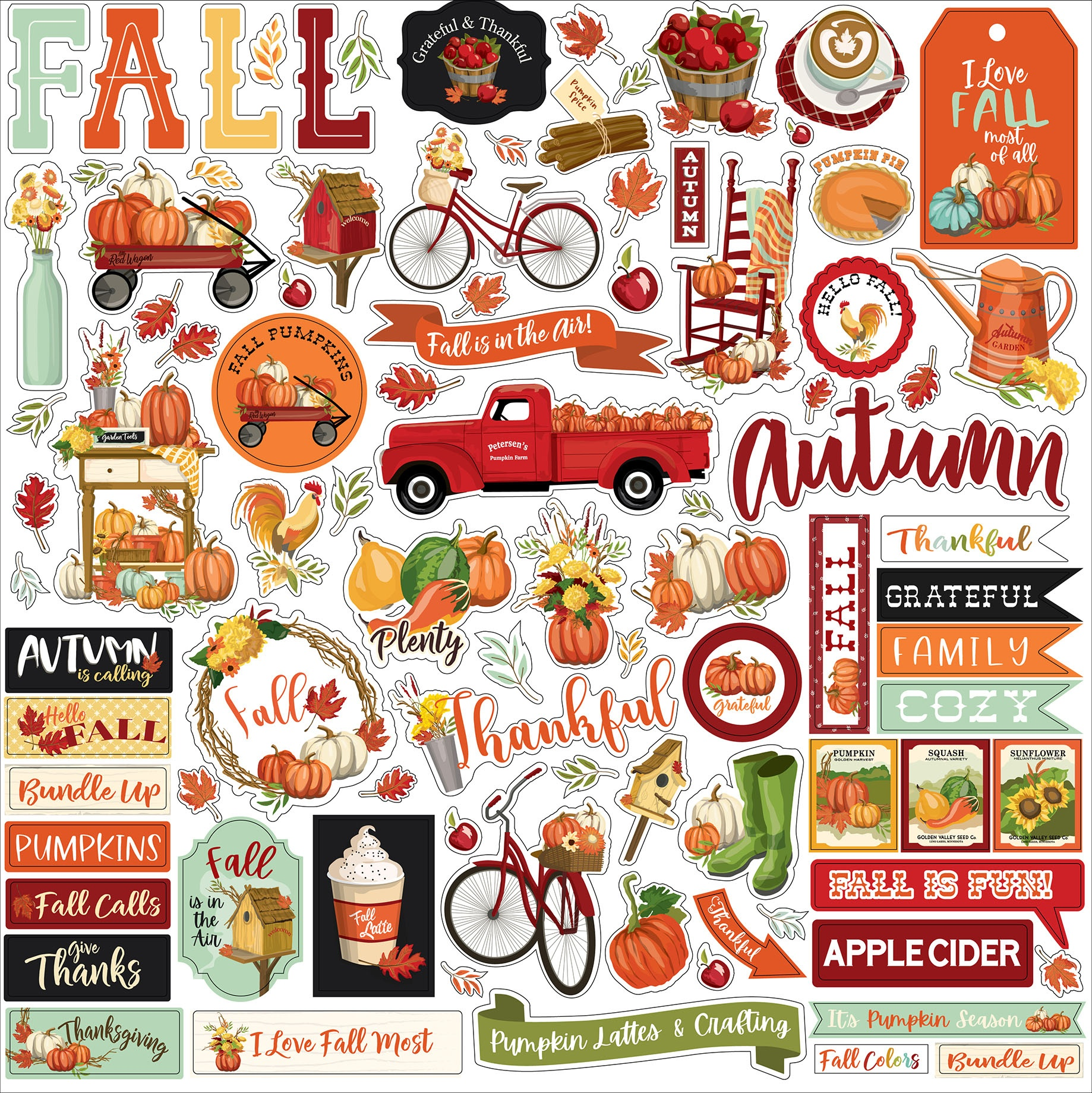 Echo Park - Welcome Autumn Cardstock Stickers 12X12-Elements