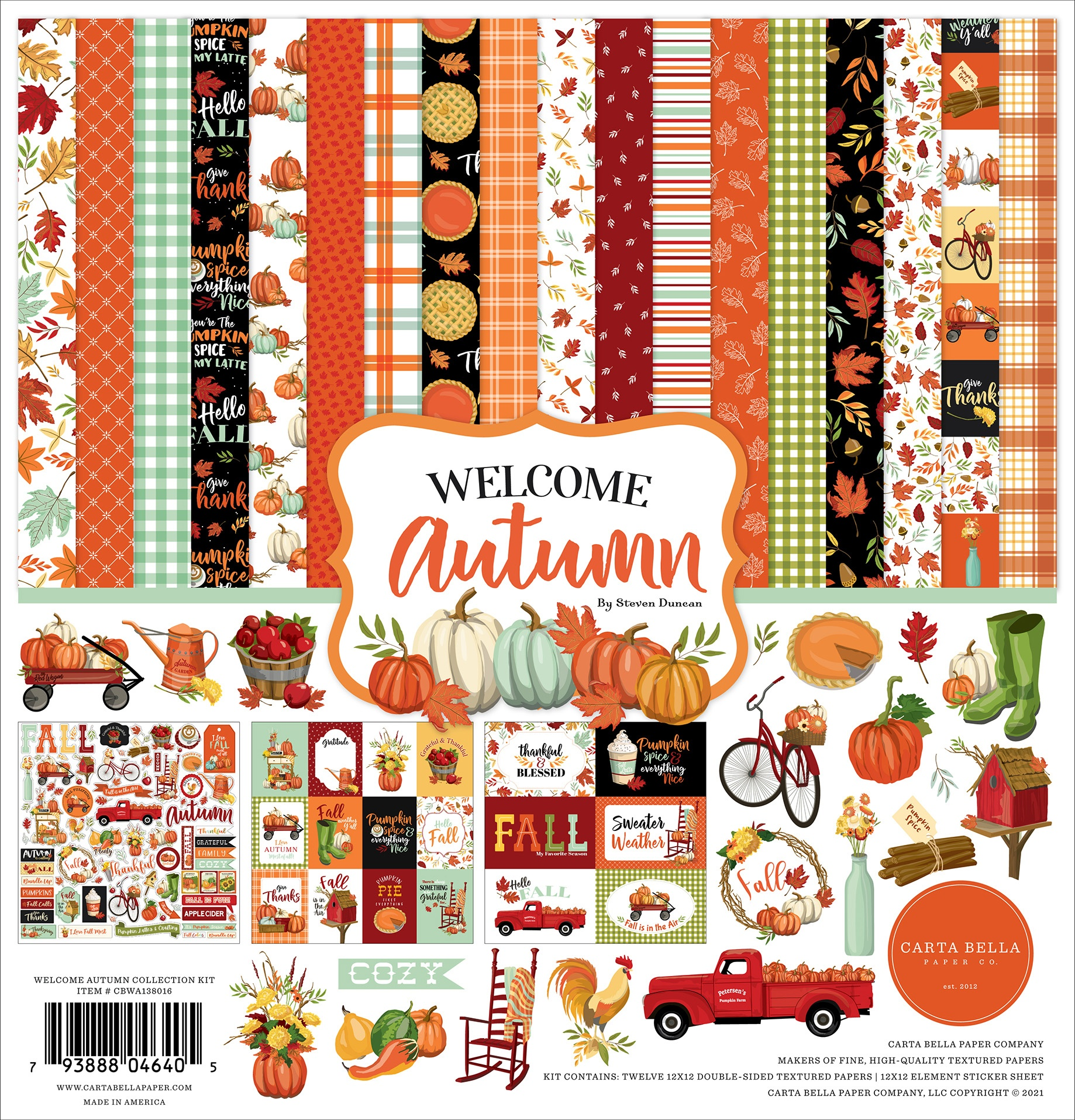 Carta Bella Collection Kit 12X12-Welcome Autumn