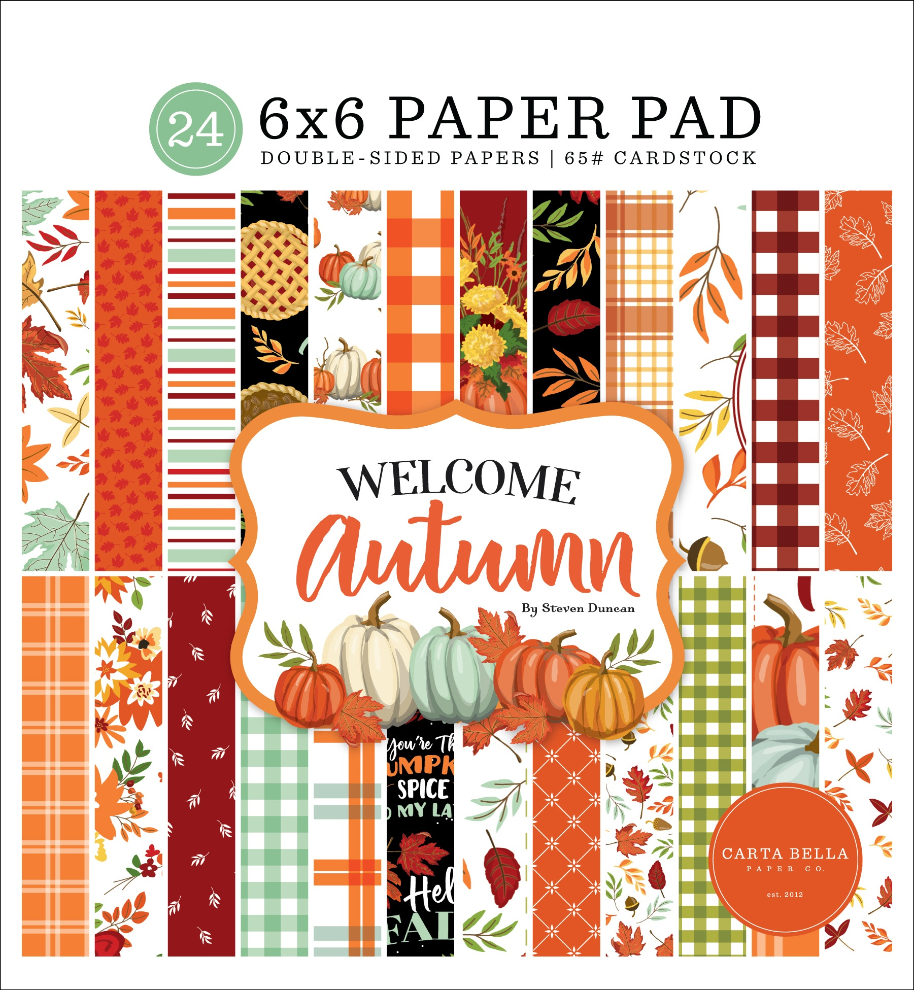 Carta Bella Double-Sided Paper Pad 6X6 24/Pkg-Welcome Autumn
