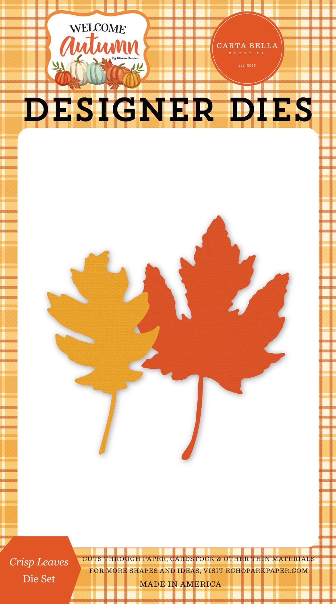Carte Bella Autumn Welcome Collection Dies-Crisp Leaves - Matrice feuilles d'automne
