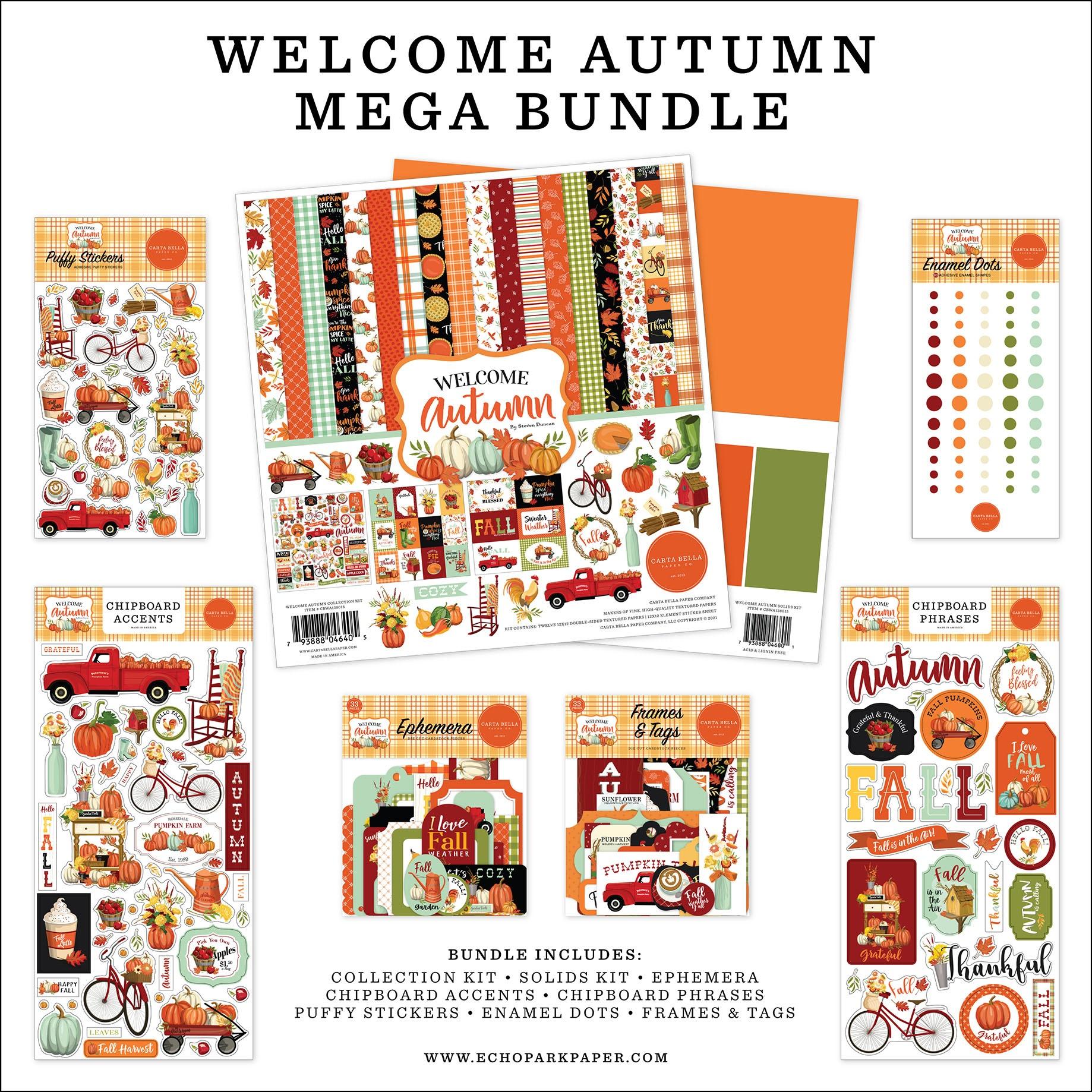 Carta Bella Mega Bundle Collection Kit 12X12-Welcome Autumn