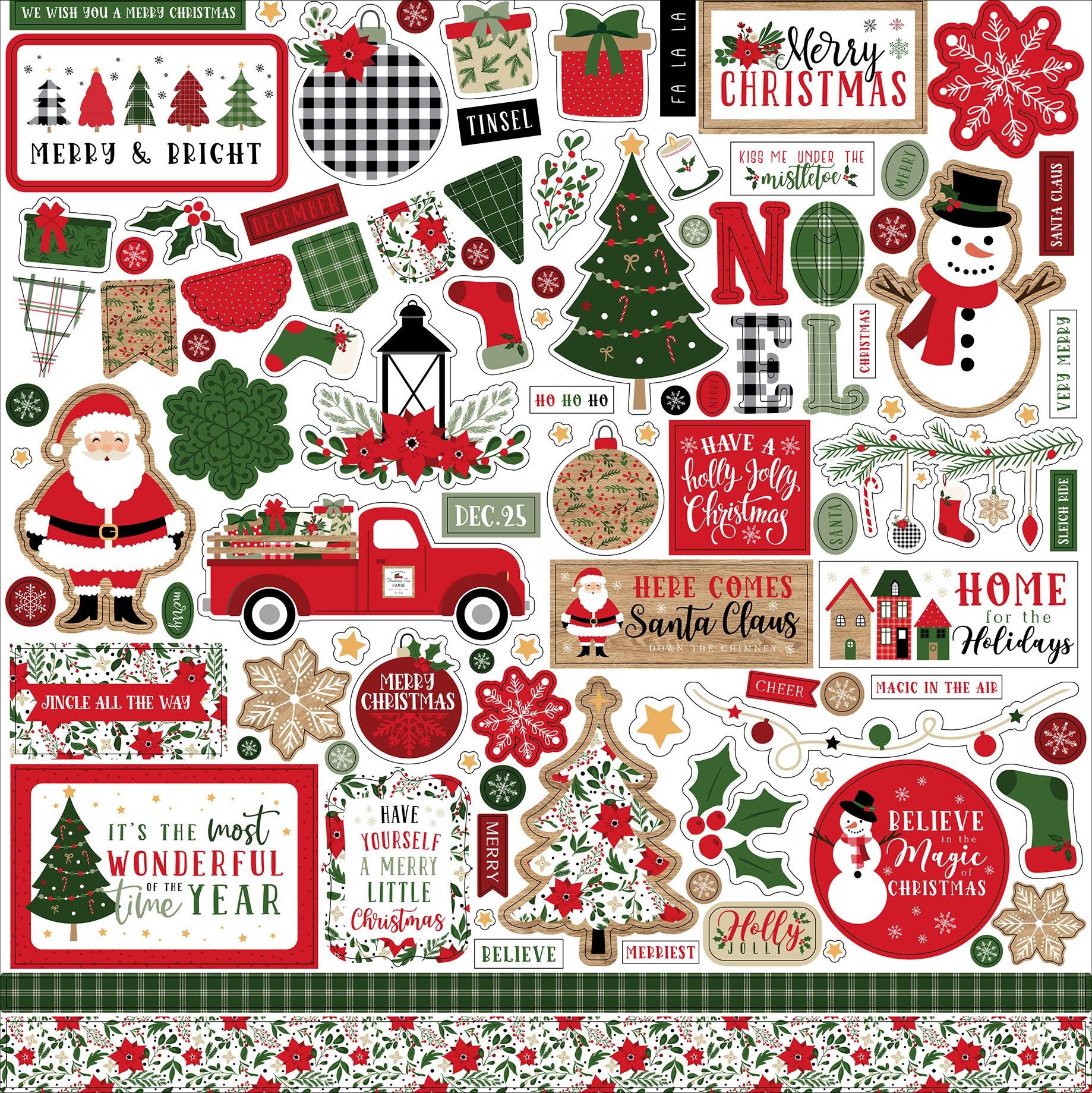 Echo Park - Jingle All The Way - 12x12 Element Sticker Sheet