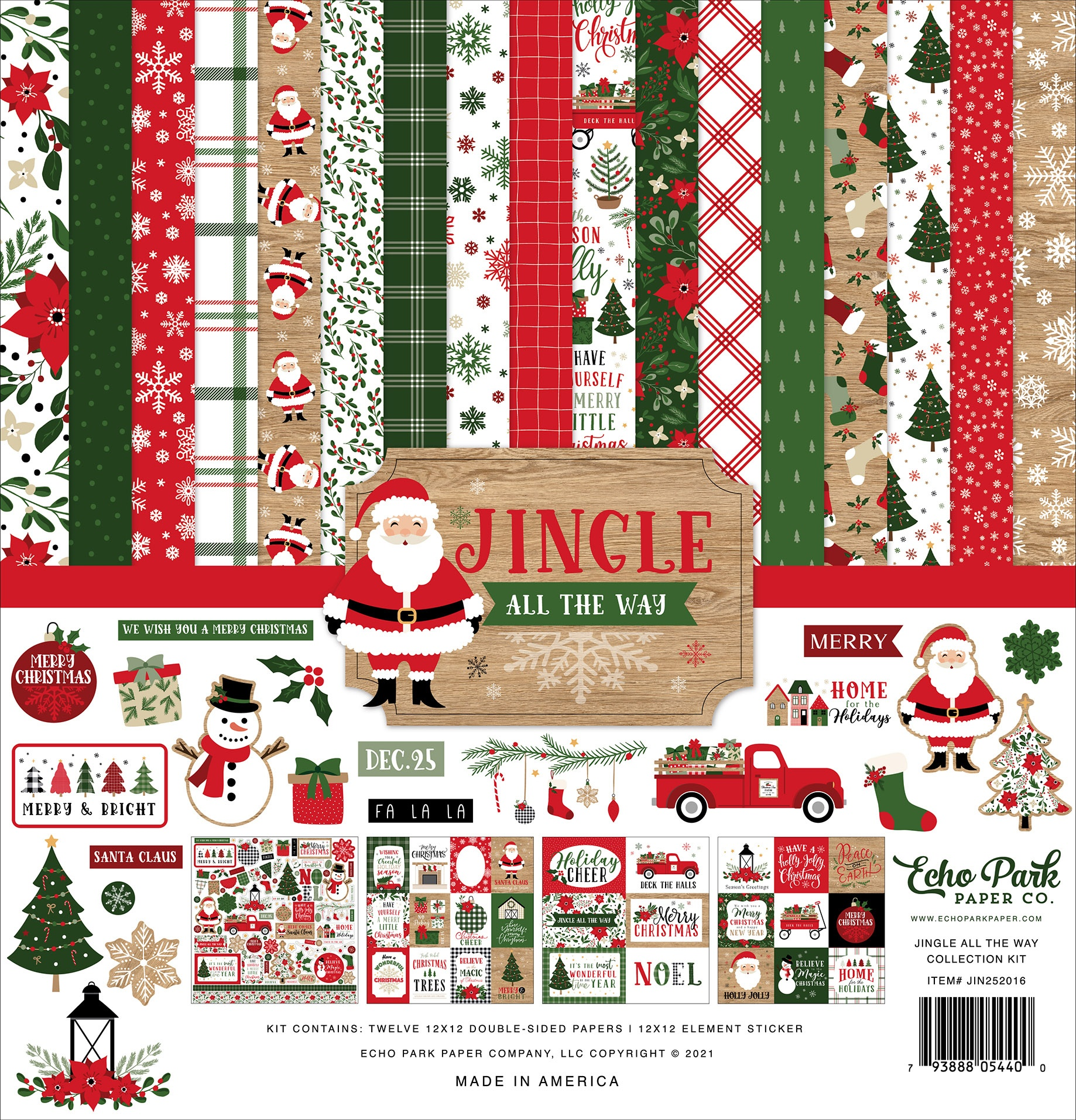 Echo Park - Jingle All The Way - 12x12 Collection Pack