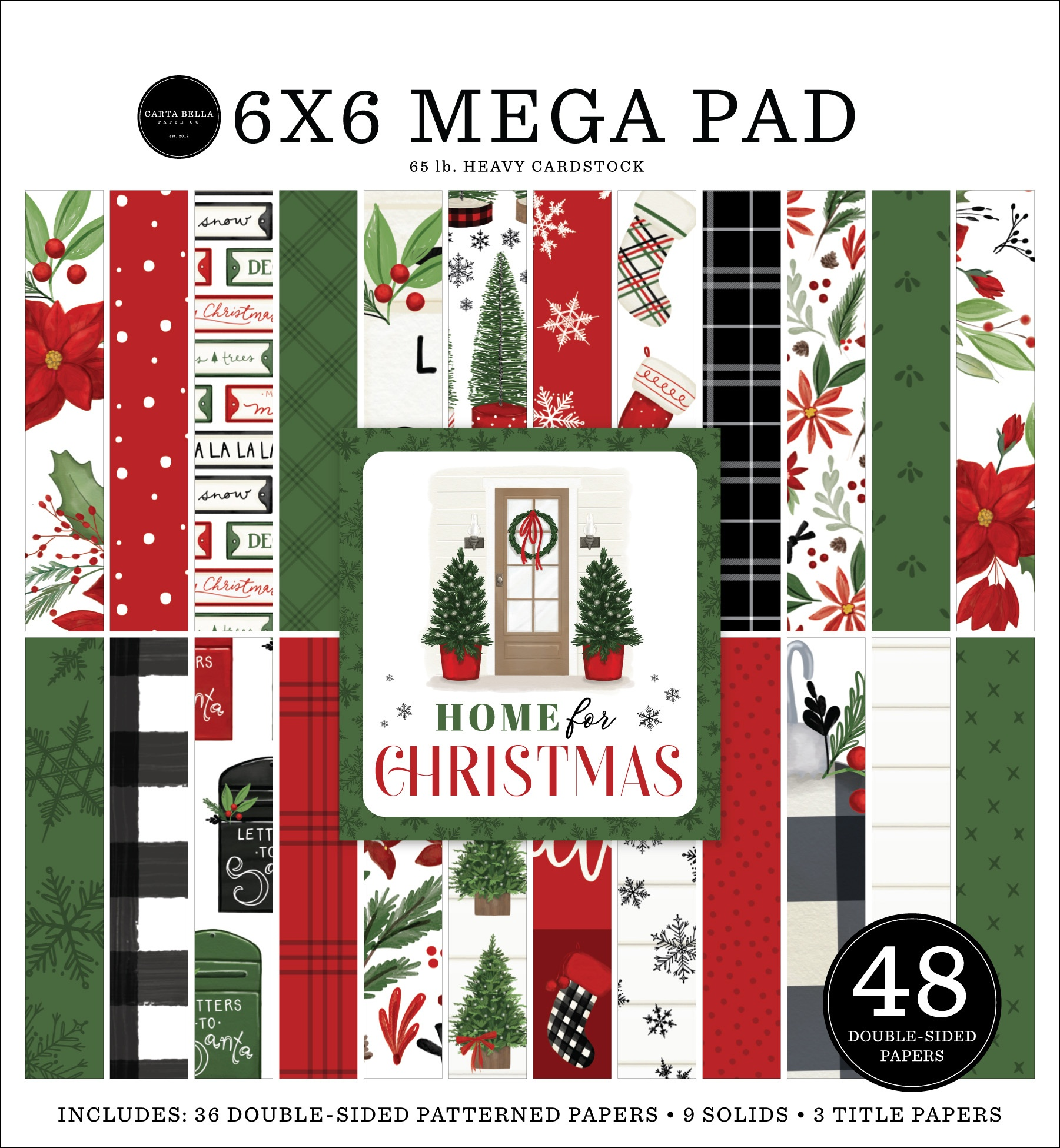 Carta Bella - Home For Christmas - 6x6 Mega Paper Pad