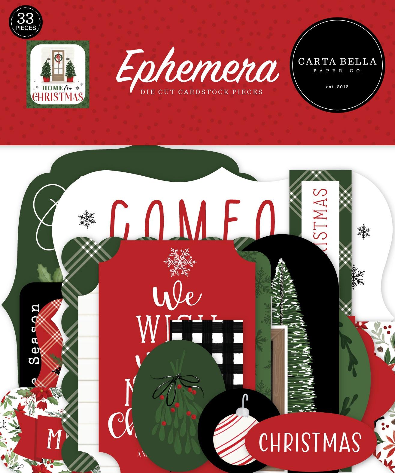 Carta Bella - Home For Christmas - Ephemera