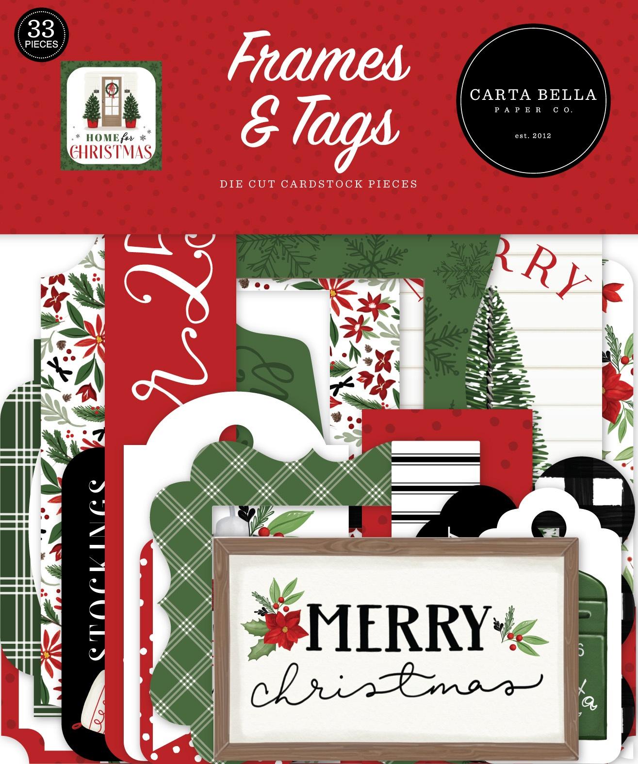 Carta Bella - Home For Christmas - Frames & Tags