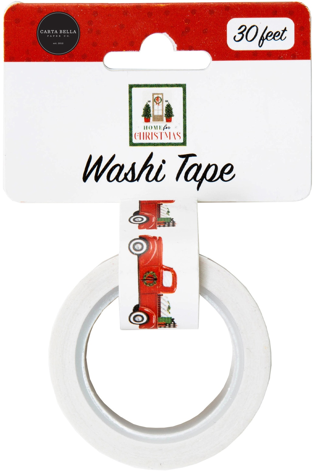 Carta Bella Home For Christmas Washi Tape 30'-Christmas Trucks