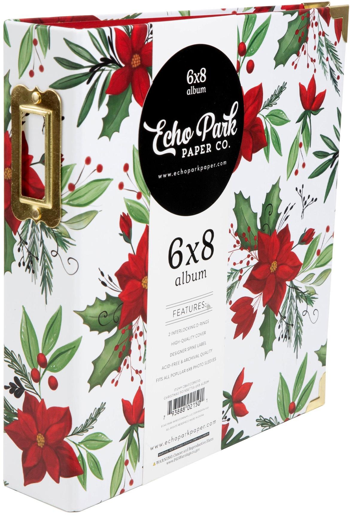 Echo Park - 6x8 Album - Christmas Poinsettia