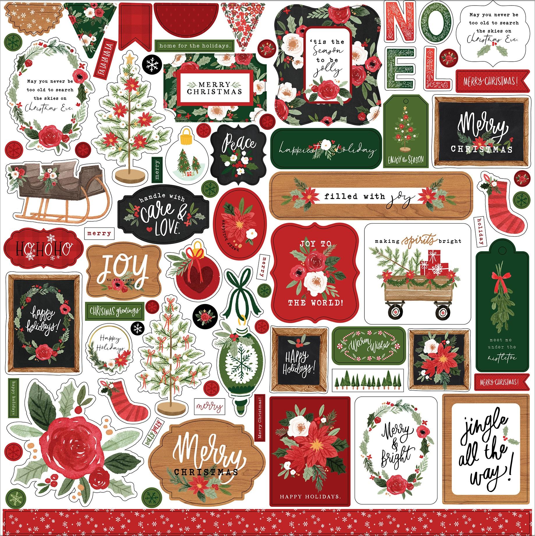Carta Bella  - Happy Christmas - Element Stickers