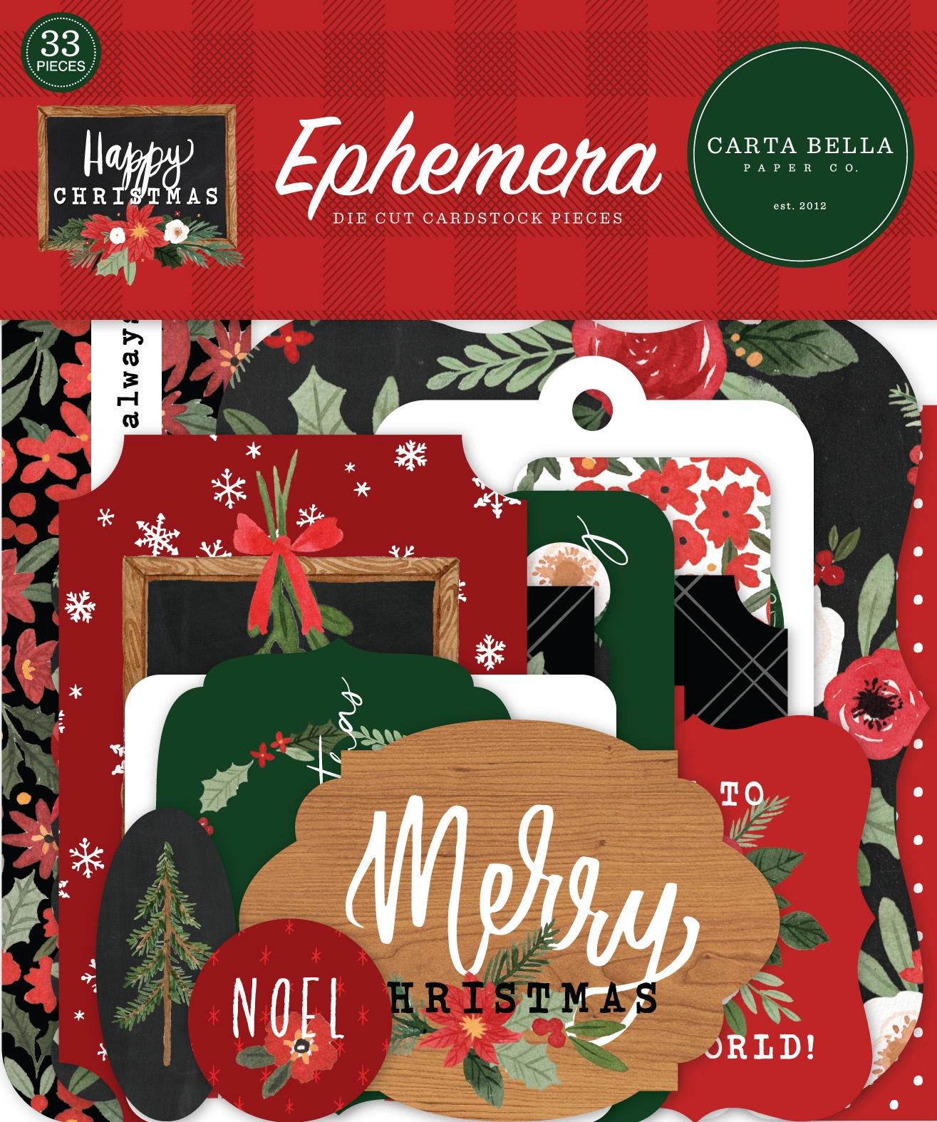 Carta Bella  - Happy Christmas - Ephemera