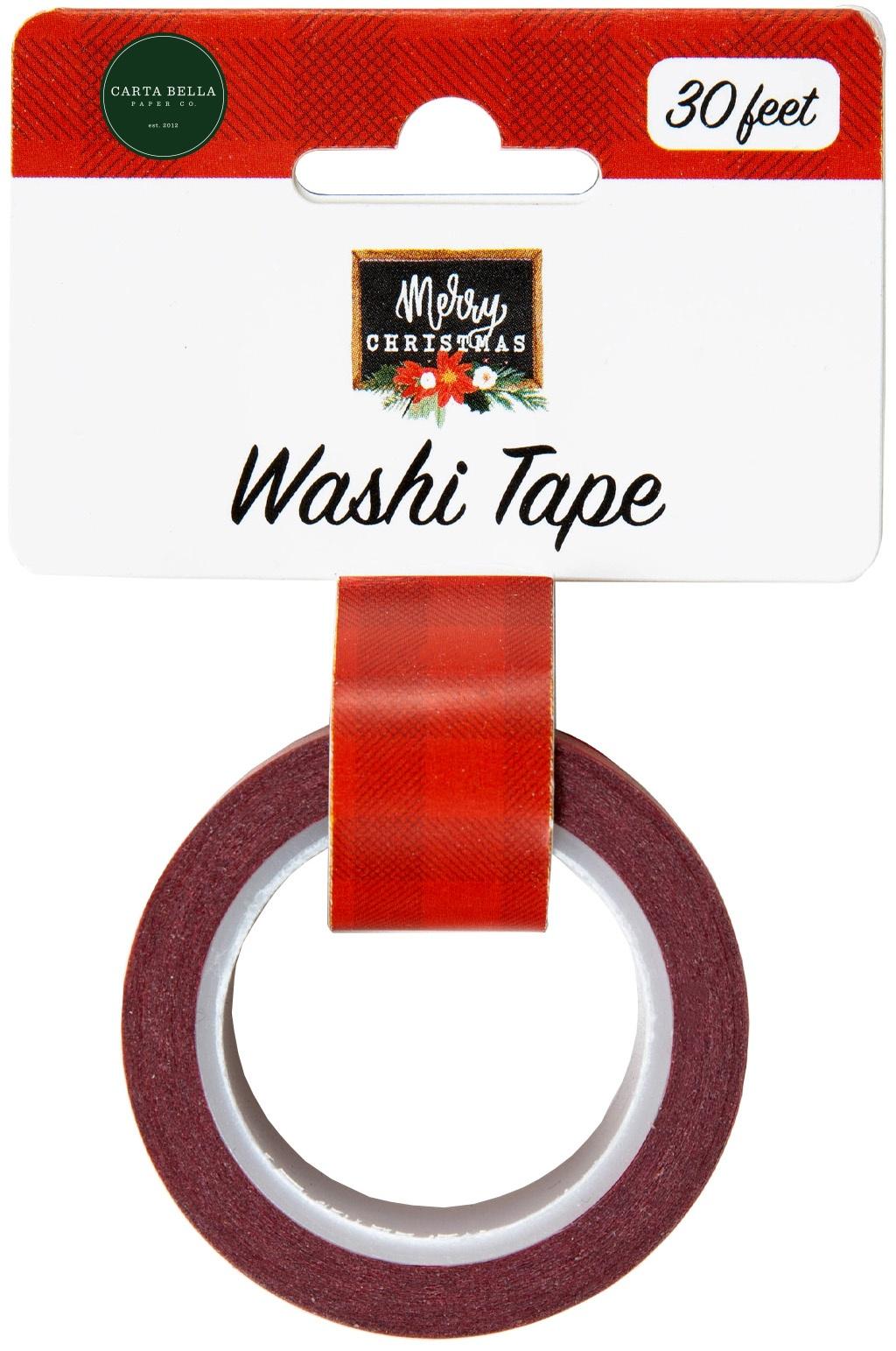 Carta Bella  - Washi Tape - Happy Christmas - Merry Plaid