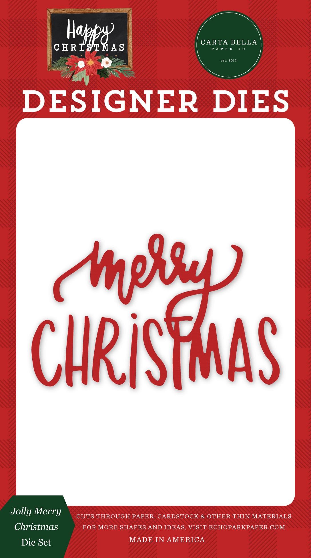 Jolly Merry Christmas Die