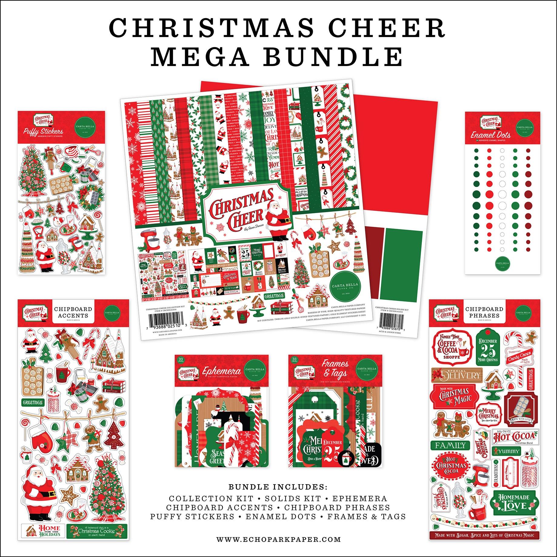 Carta Bella Mega Bundle Collection Kit 12X12-Christmas Cheer